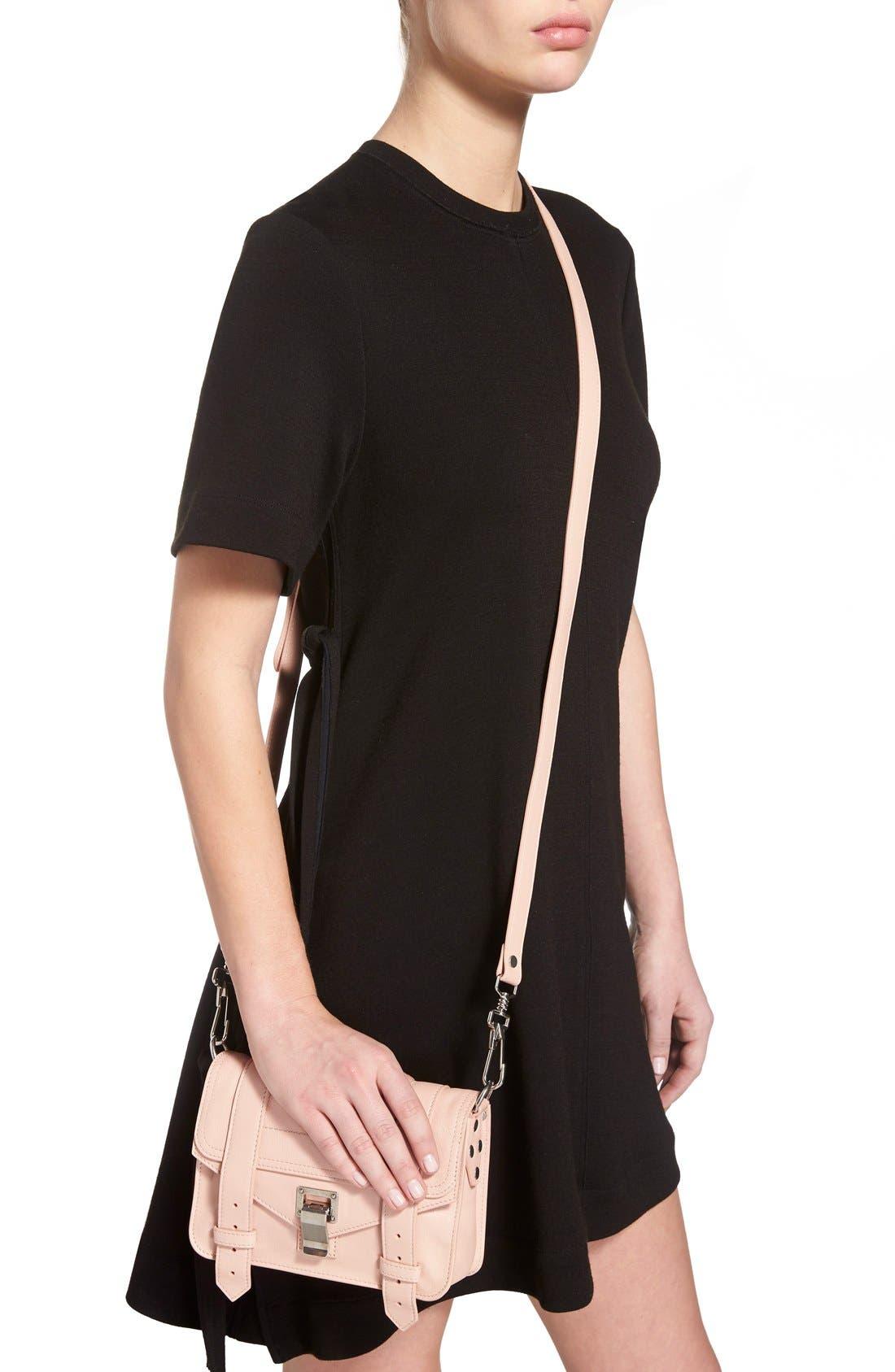 'Mini PS1' Lambskin Leather Crossbody Bag,                             Alternate thumbnail 13, color,