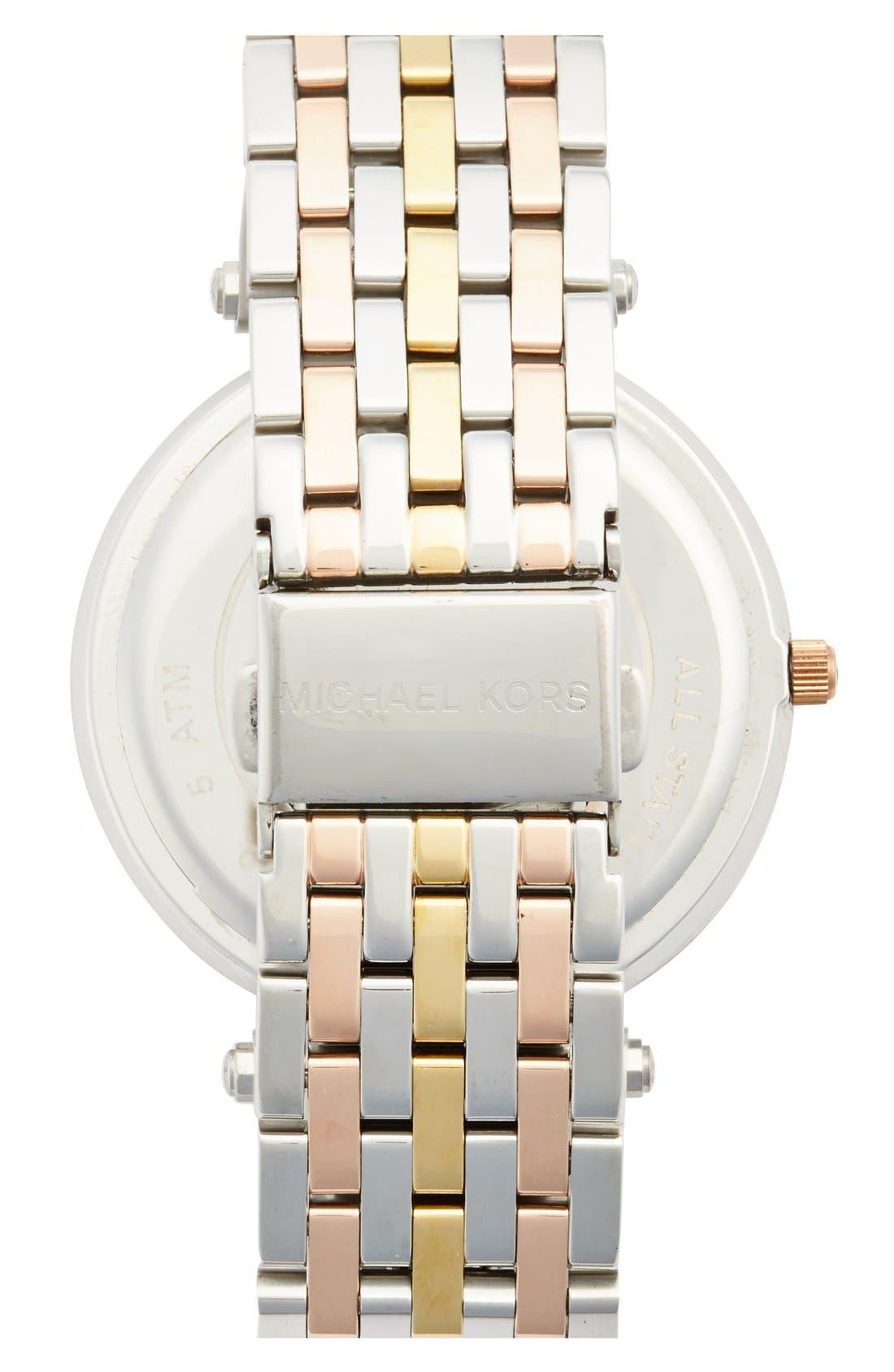 'Darci' Round Bracelet Watch, 39mm,                             Alternate thumbnail 3, color,                             TRI TONE