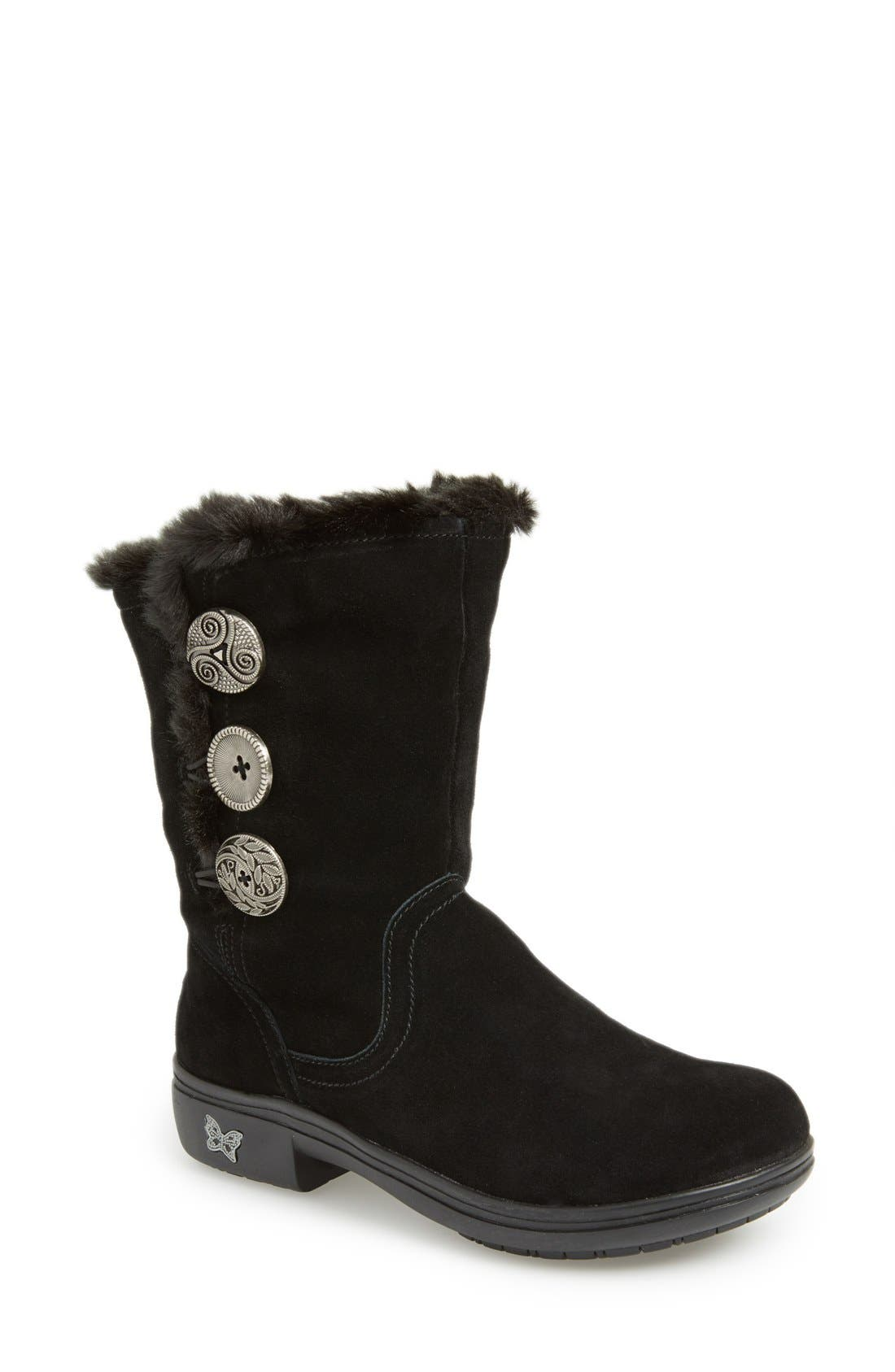'Nanook' Suede Boot,                             Main thumbnail 1, color,                             001