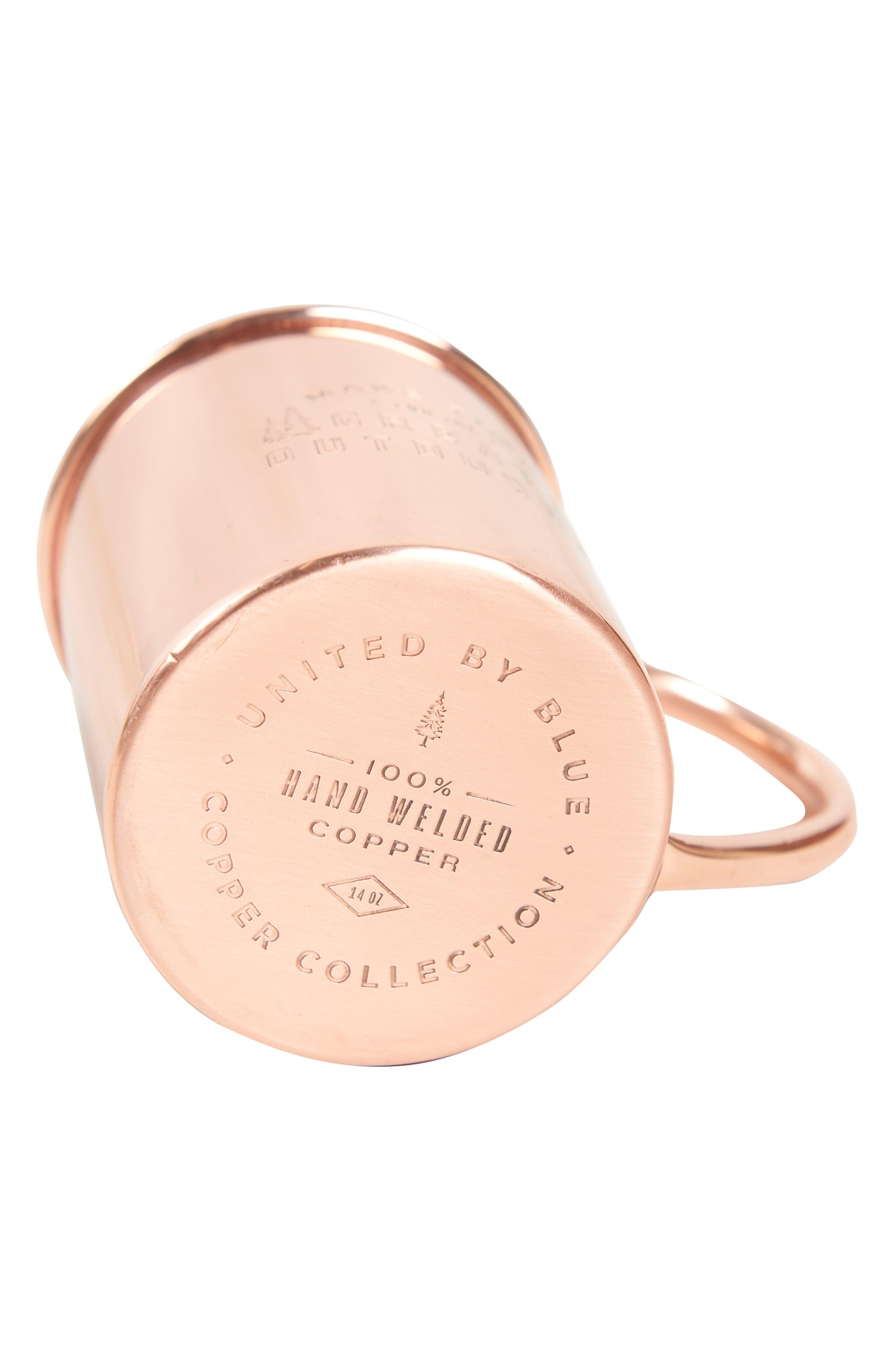 UNITED BY BLUE,                             Engraved Copper Mug,                             Alternate thumbnail 4, color,                             220