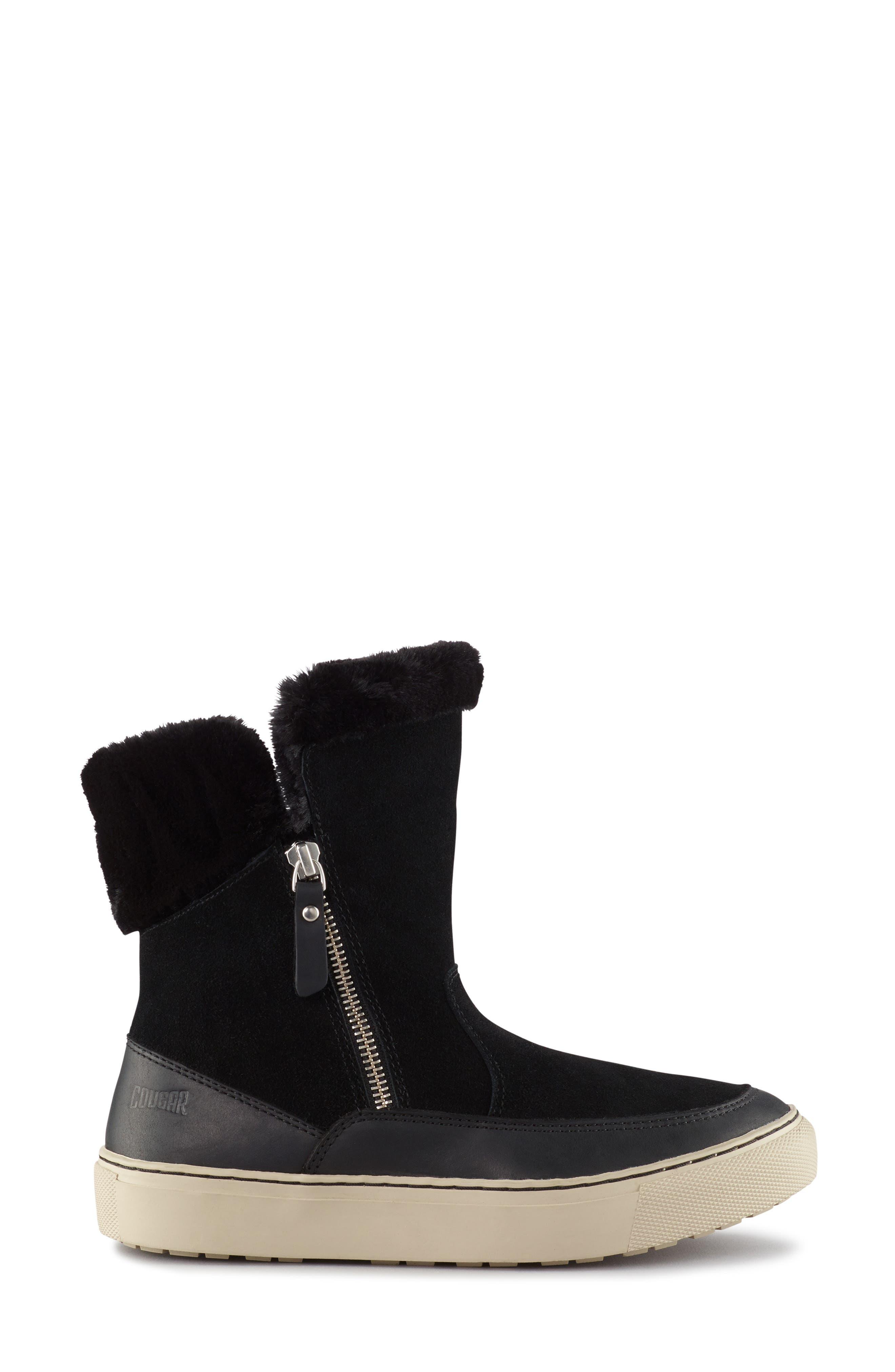 Dresden Waterproof Sneaker Boot with Faux Fur Trim,                             Alternate thumbnail 2, color,                             001