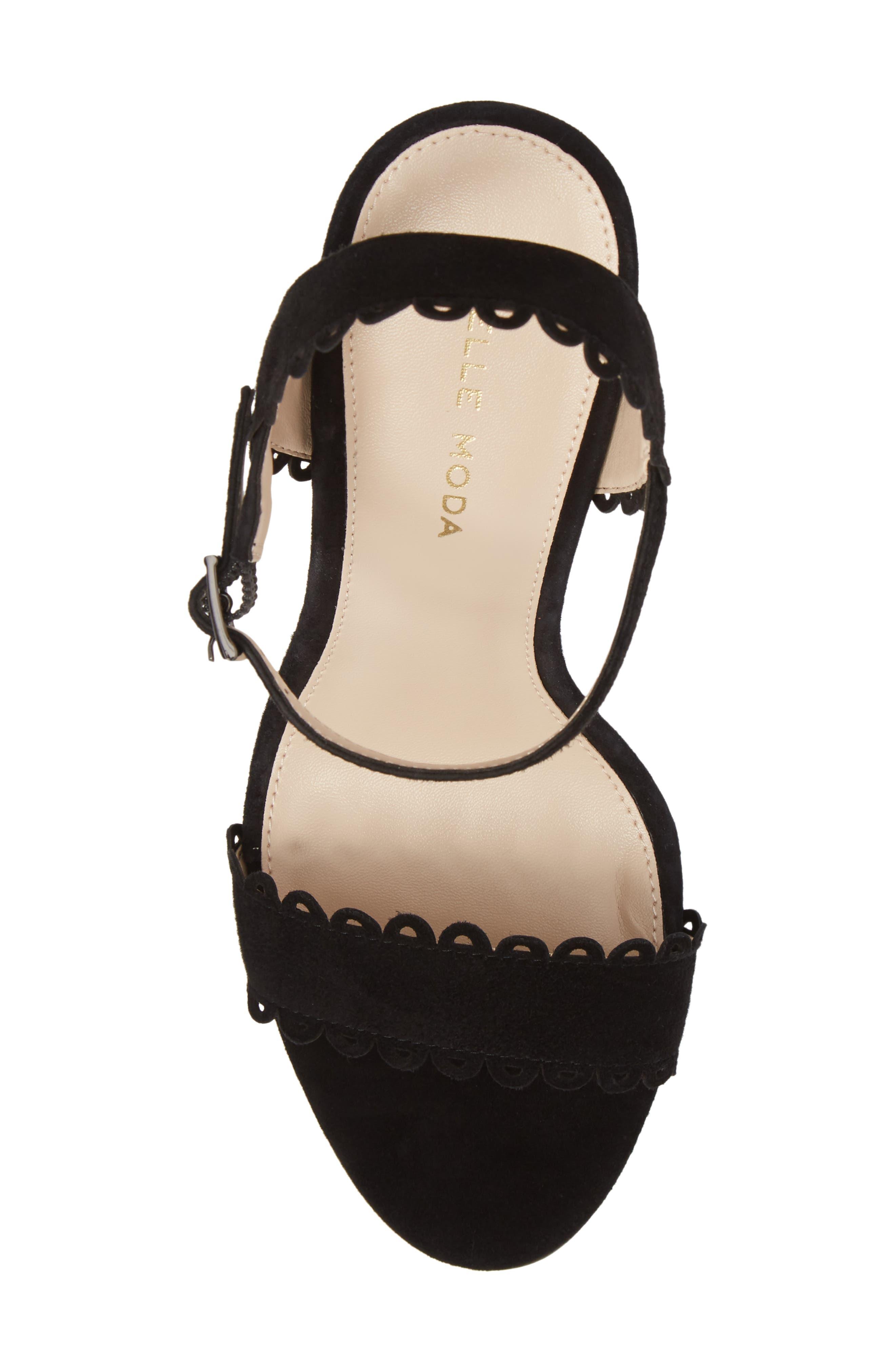 Karen Scallop Ankle Strap Sandal,                             Alternate thumbnail 13, color,