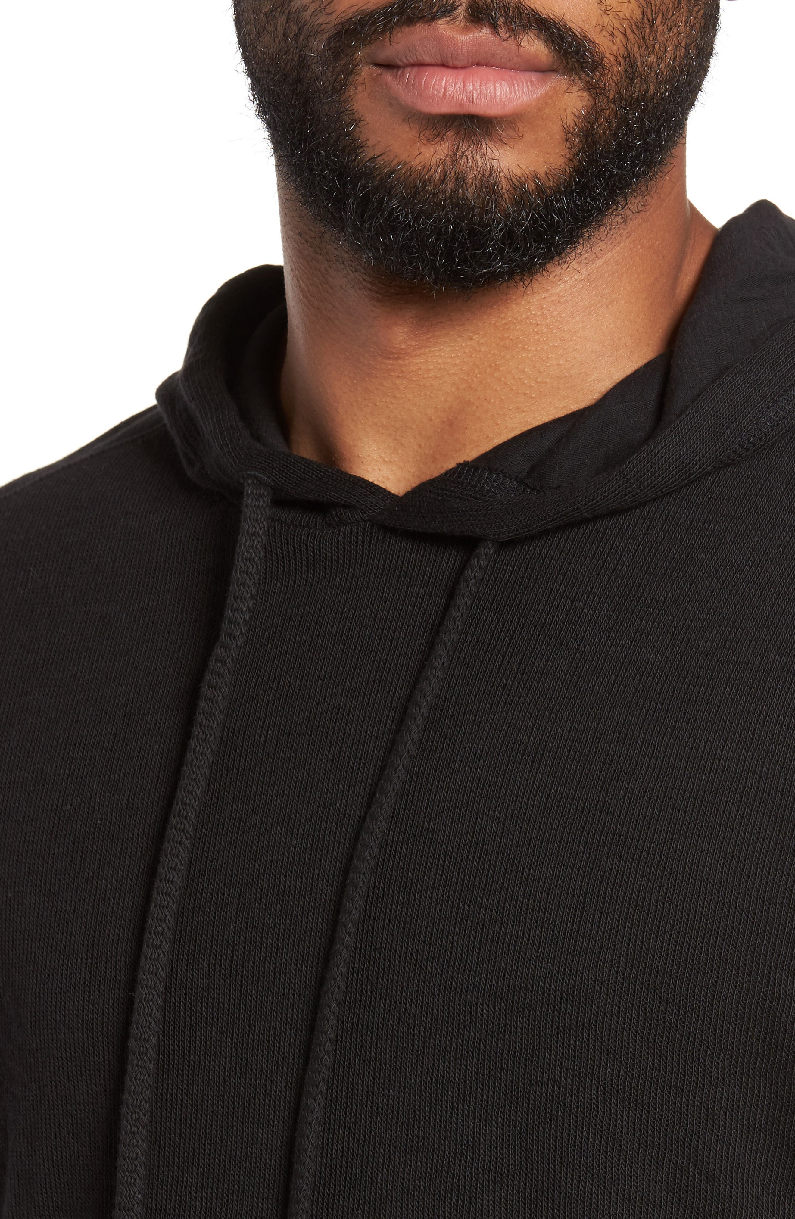 Double Knit Hoodie,                             Alternate thumbnail 4, color,                             001