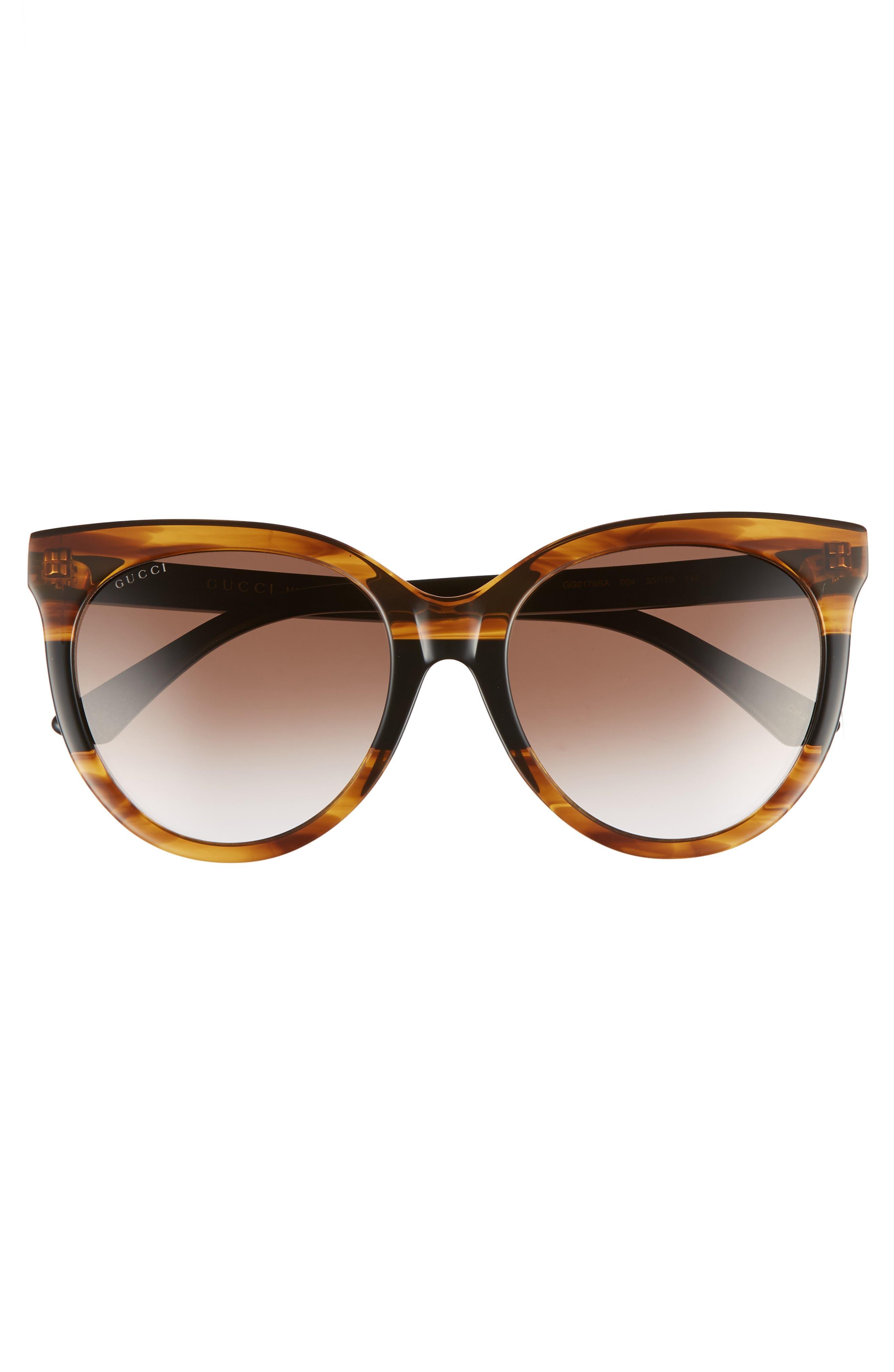 GUCCI,                             55mm Round Sunglasses,                             Alternate thumbnail 3, color,                             213