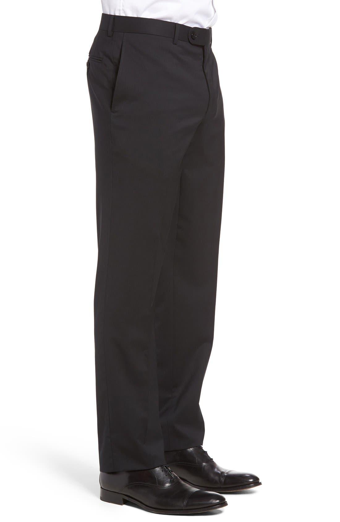 Ryan Regular Fit Wool Trousers,                             Alternate thumbnail 3, color,                             001