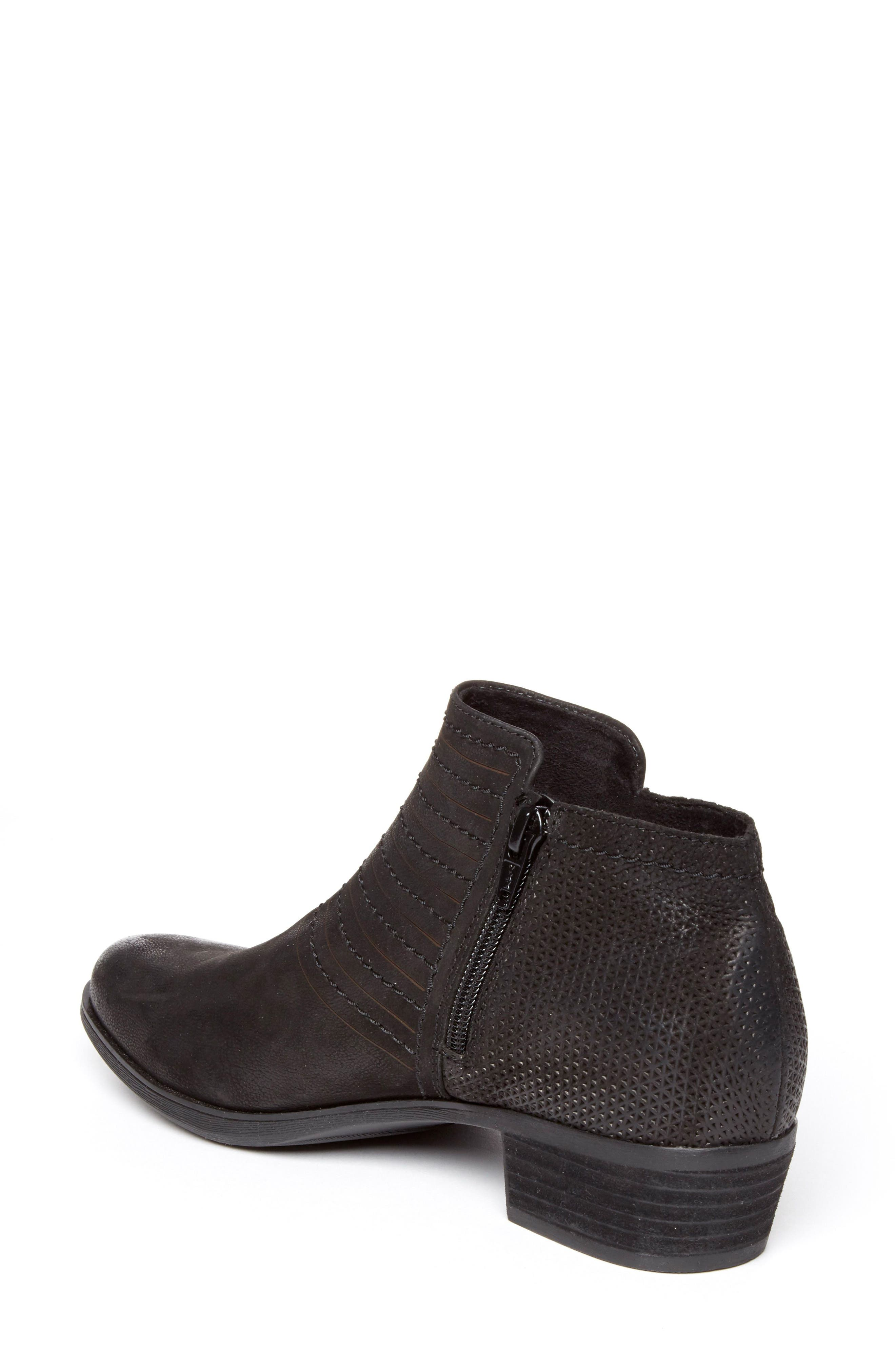 ROCKPORT,                             Vanna Strappy Bootie,                             Alternate thumbnail 2, color,                             BLACK NUBUCK