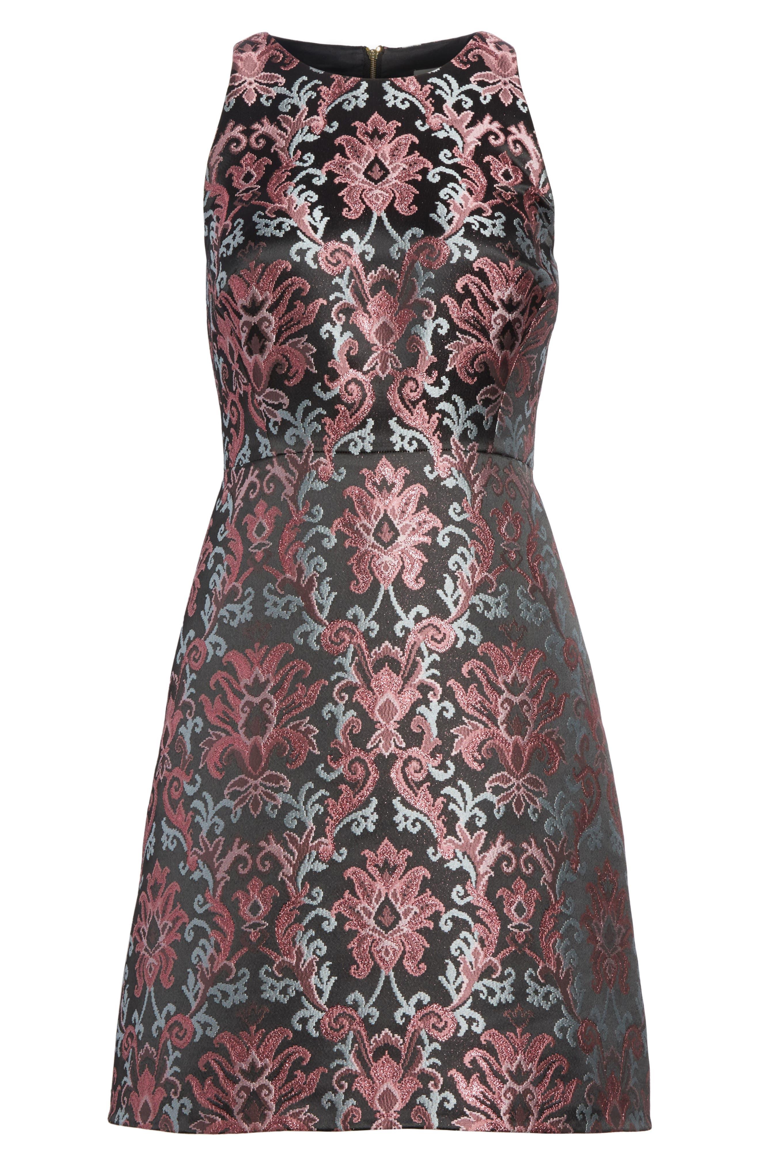 tapestry jacquard dress,                             Alternate thumbnail 6, color,                             004