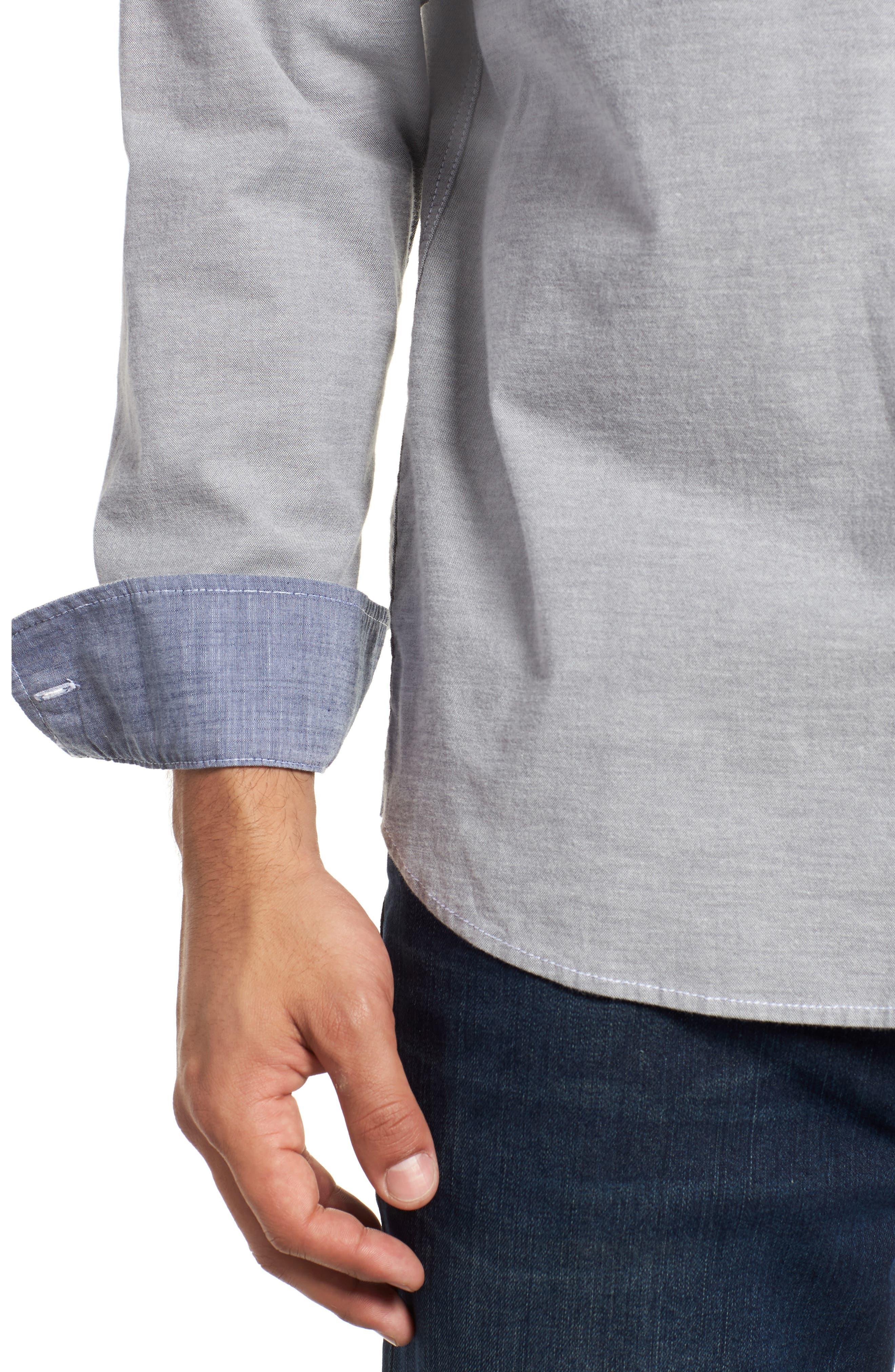 Oxford Isles Sport Shirt,                             Alternate thumbnail 2, color,                             CAVE