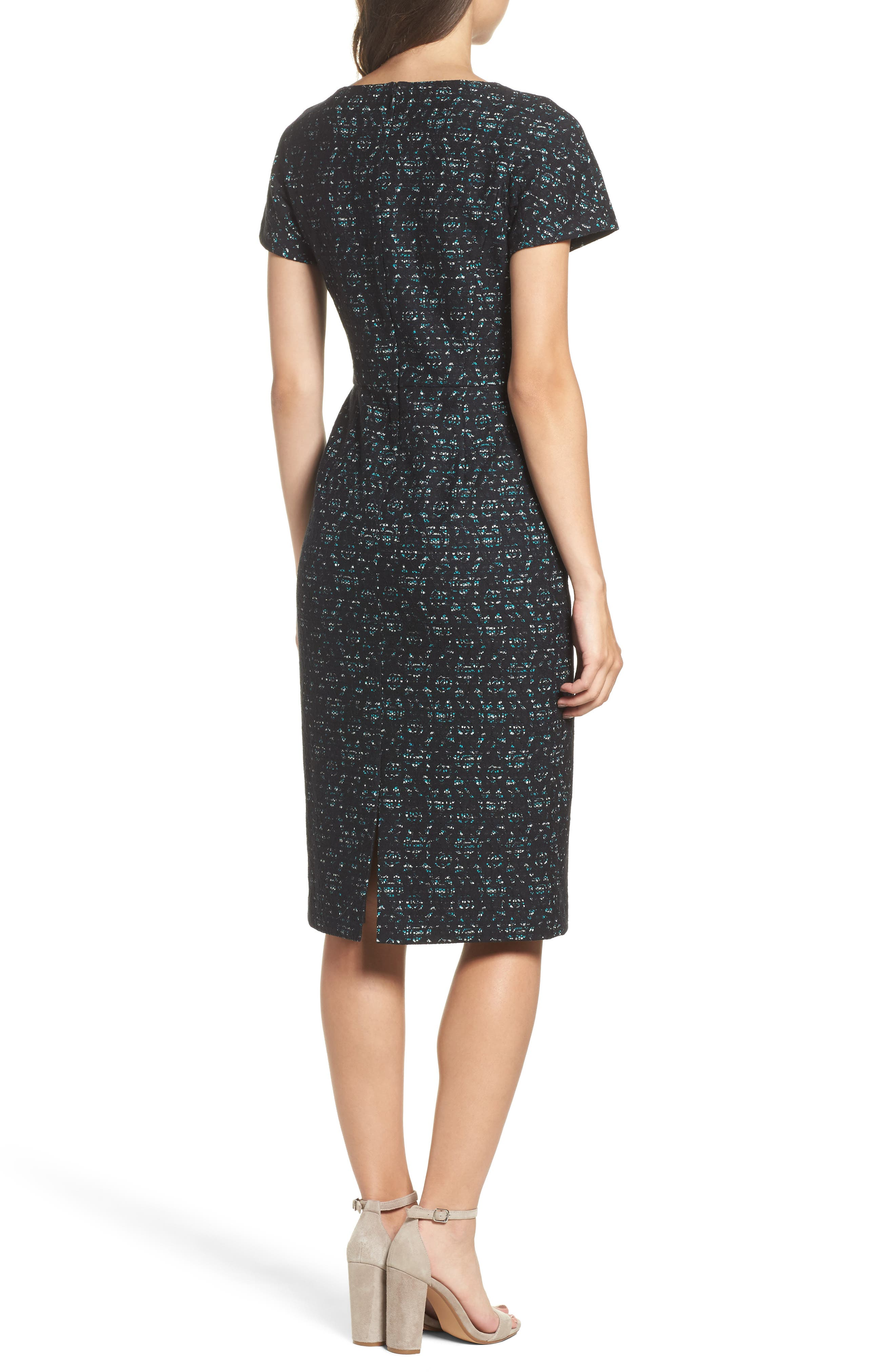 Bonded Lace Sheath Dress,                             Alternate thumbnail 2, color,                             400