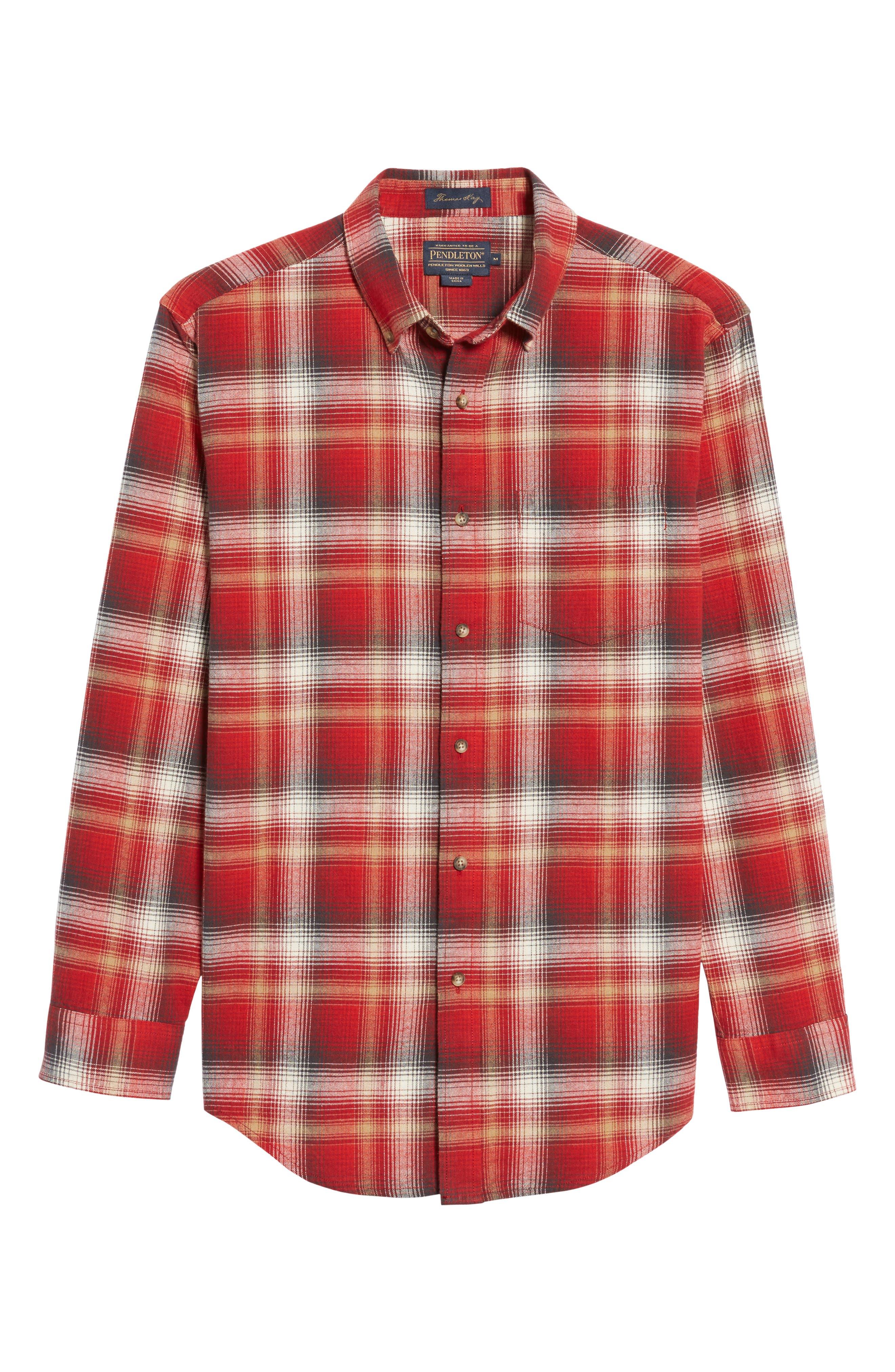 Lister Ombré Plaid Sport Shirt,                             Alternate thumbnail 12, color,