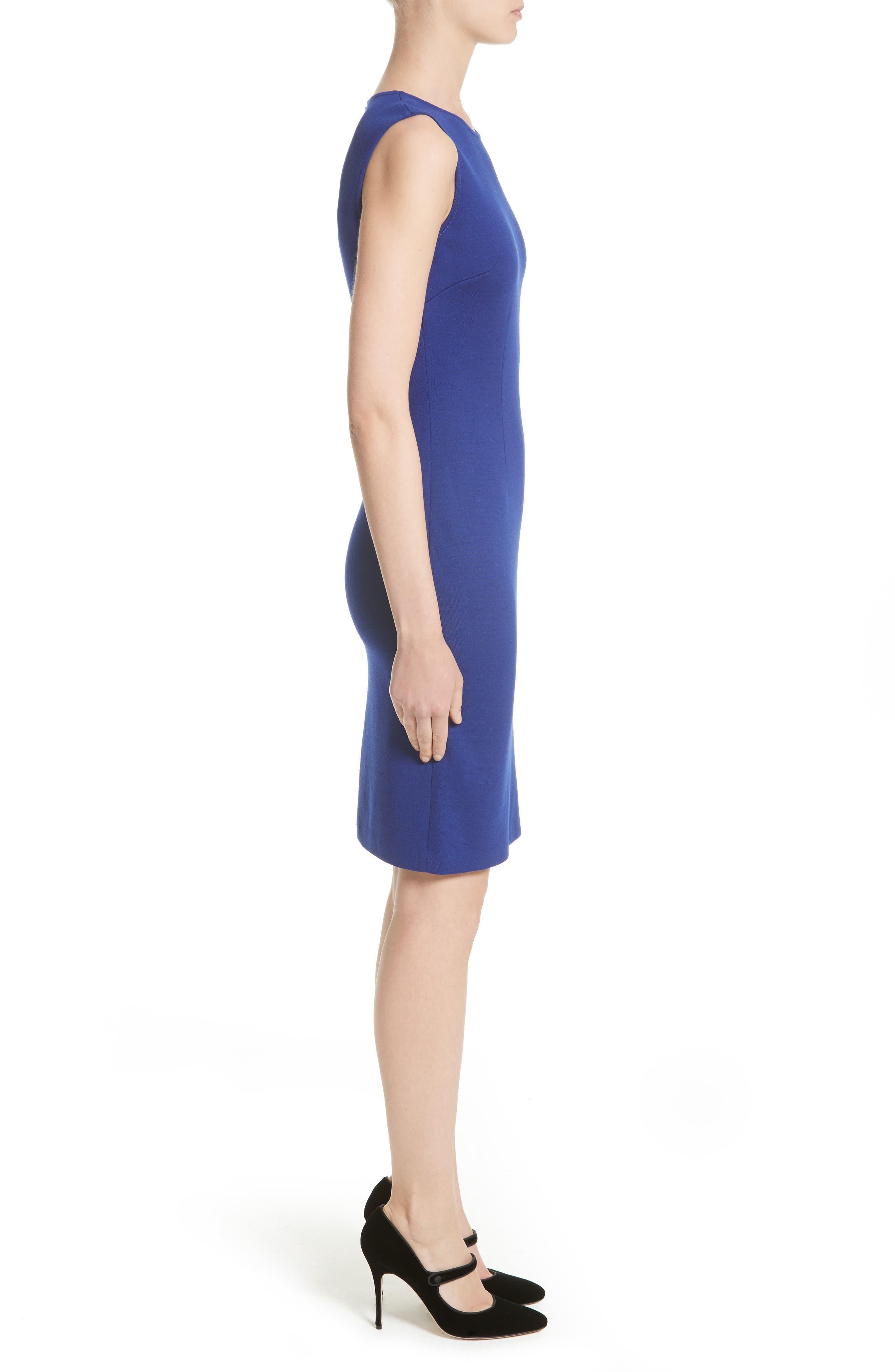 Milano Knit Sheath Dress,                             Alternate thumbnail 3, color,                             430