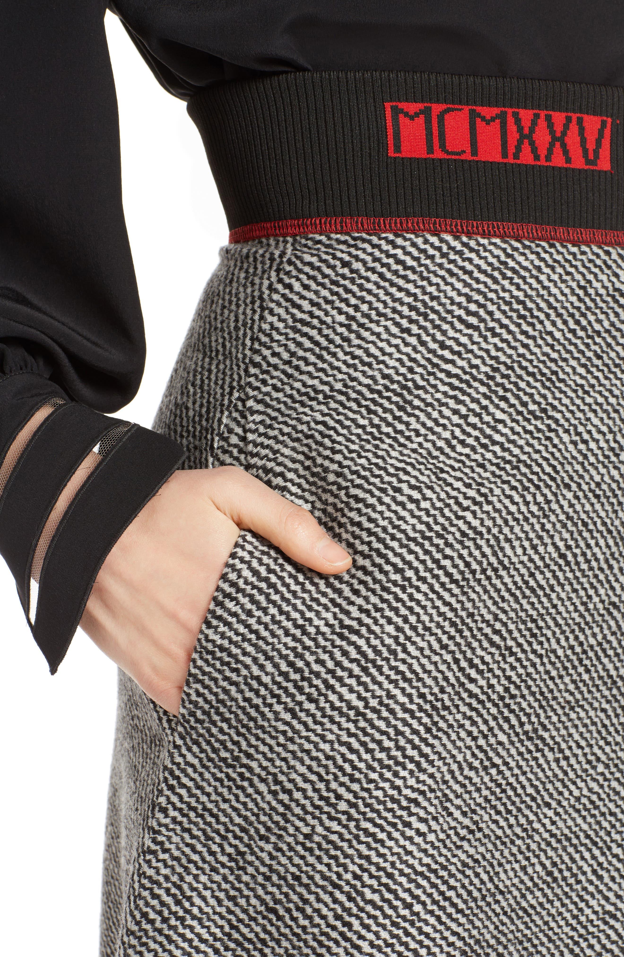 Chevron Knit A-Line Skirt,                             Alternate thumbnail 4, color,                             008