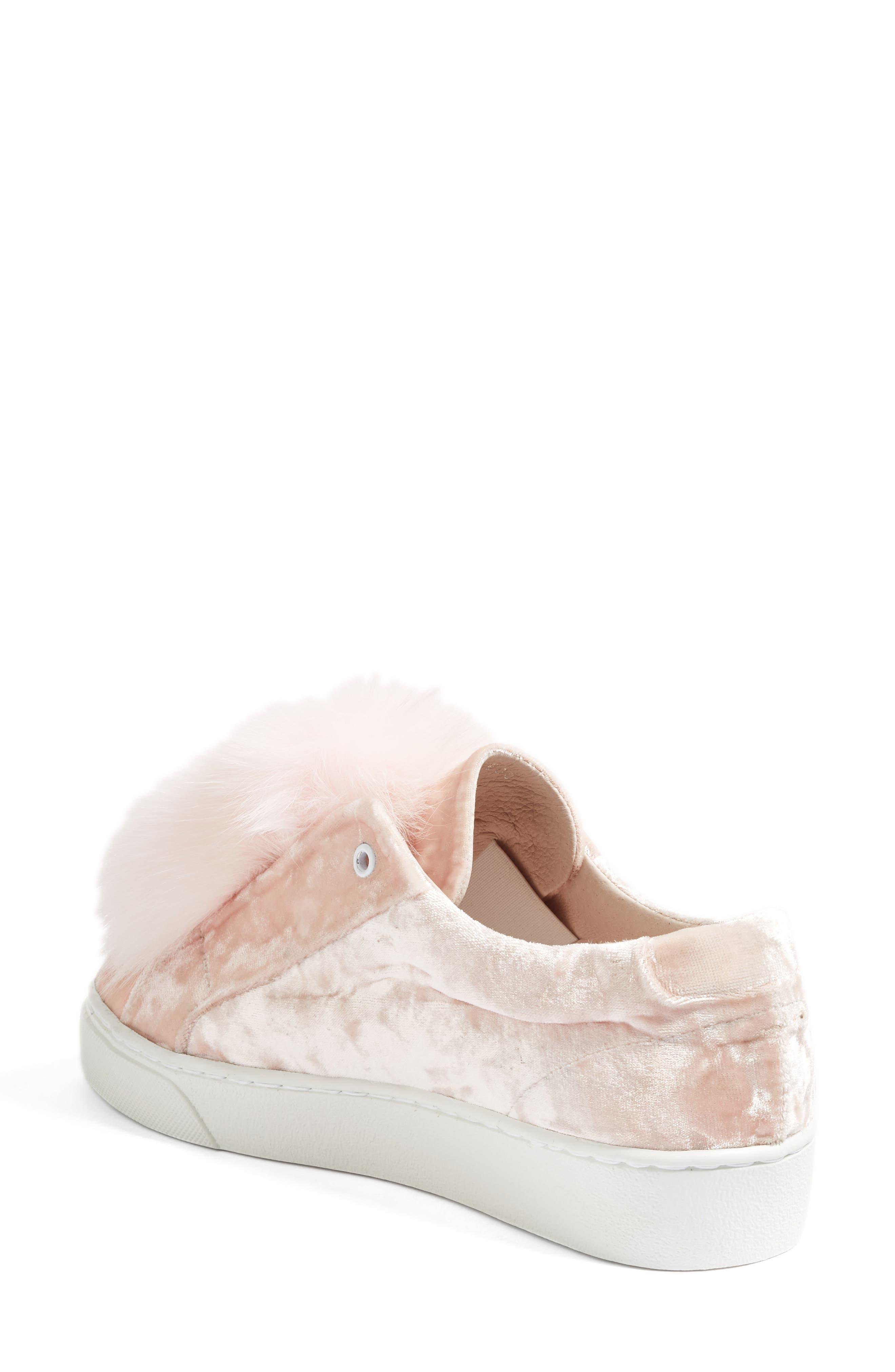 Emma Genuine Fox Fur Trim Sneaker,                             Alternate thumbnail 2, color,                             650