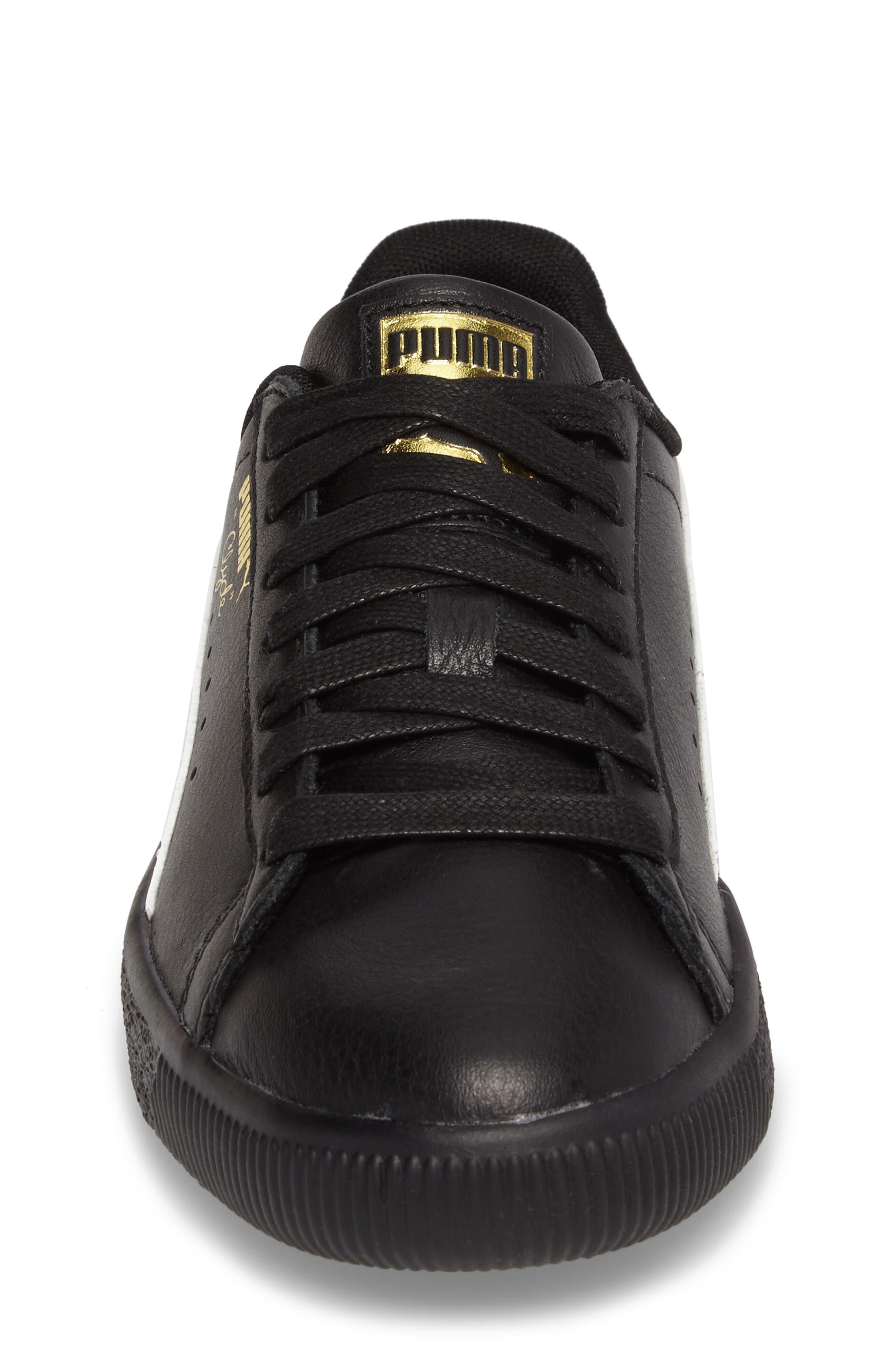Clyde Core Foil Sneaker,                             Alternate thumbnail 4, color,                             001
