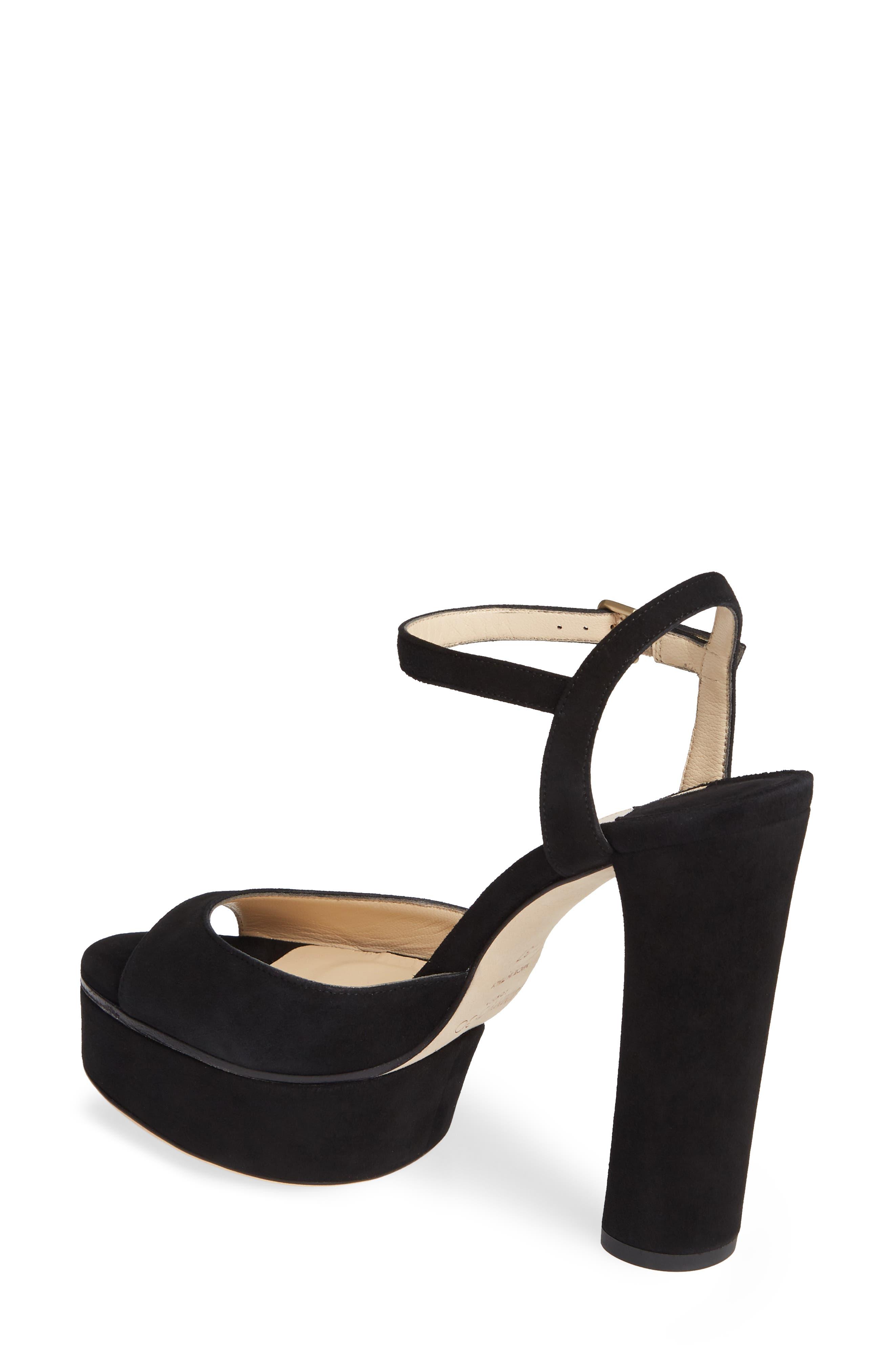 Peachy Platform Sandal,                             Alternate thumbnail 2, color,                             BLACK SUEDE