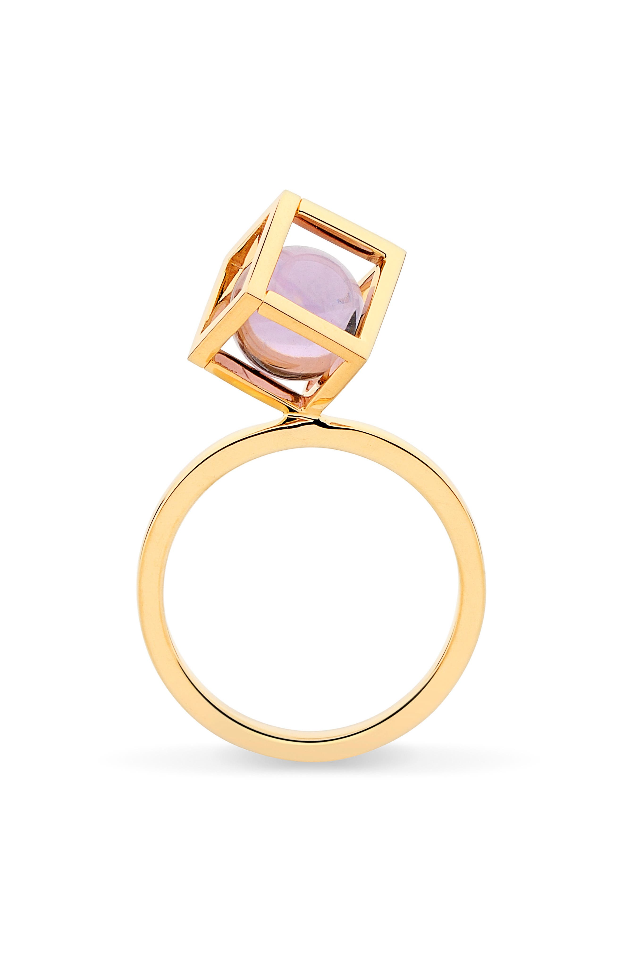 Rotated Solo Amethyst Ring,                             Alternate thumbnail 4, color,                             500