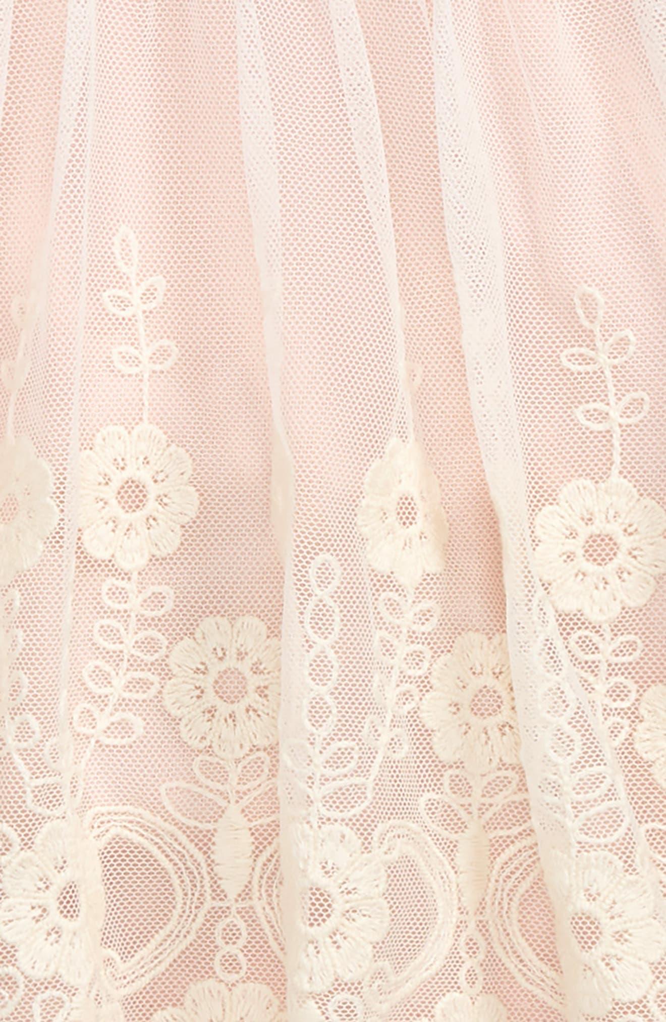 Flower Embroidered Sleeveless Dress,                             Alternate thumbnail 2, color,                             651