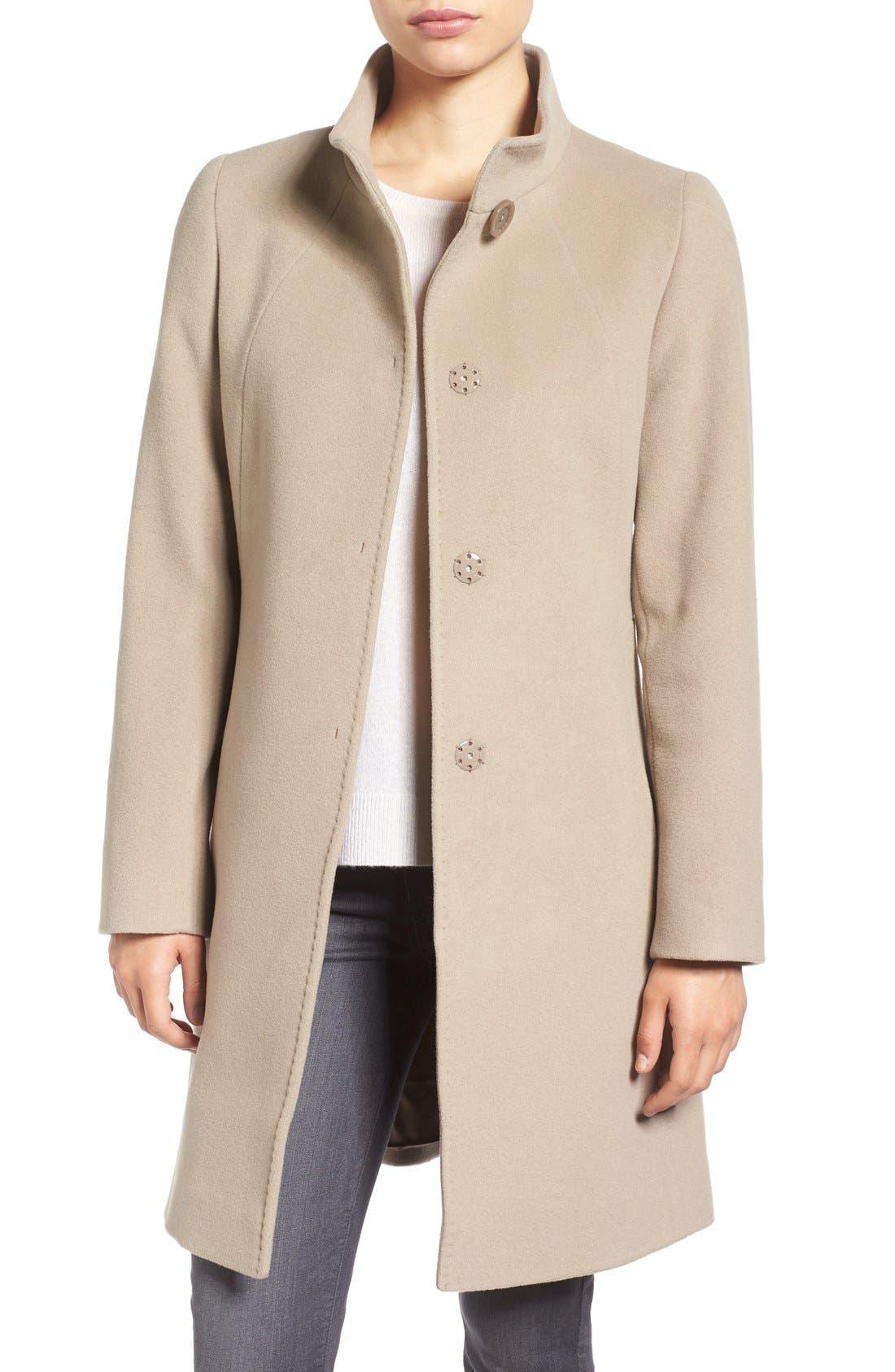 Cinzia Rocca Stand Collar Walking Coat,                             Main thumbnail 2, color,
