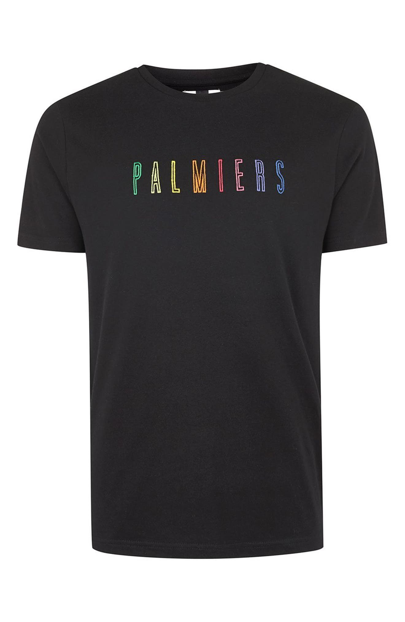 Palmiers Embroidered T-Shirt,                             Alternate thumbnail 4, color,
