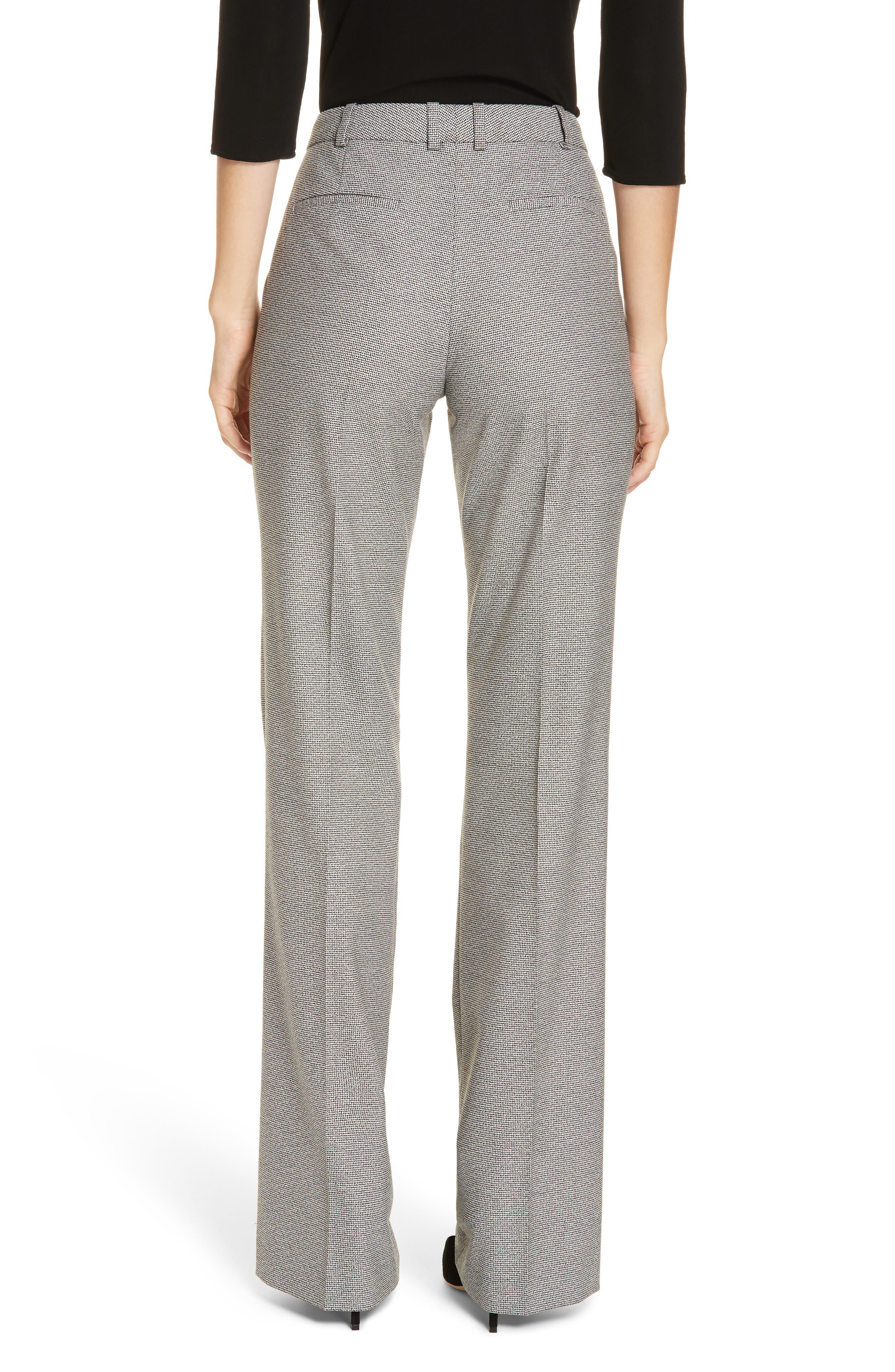 Tulea Blurred Optic Wool Suiting Trousers,                             Alternate thumbnail 2, color,                             BLACK FANTASY