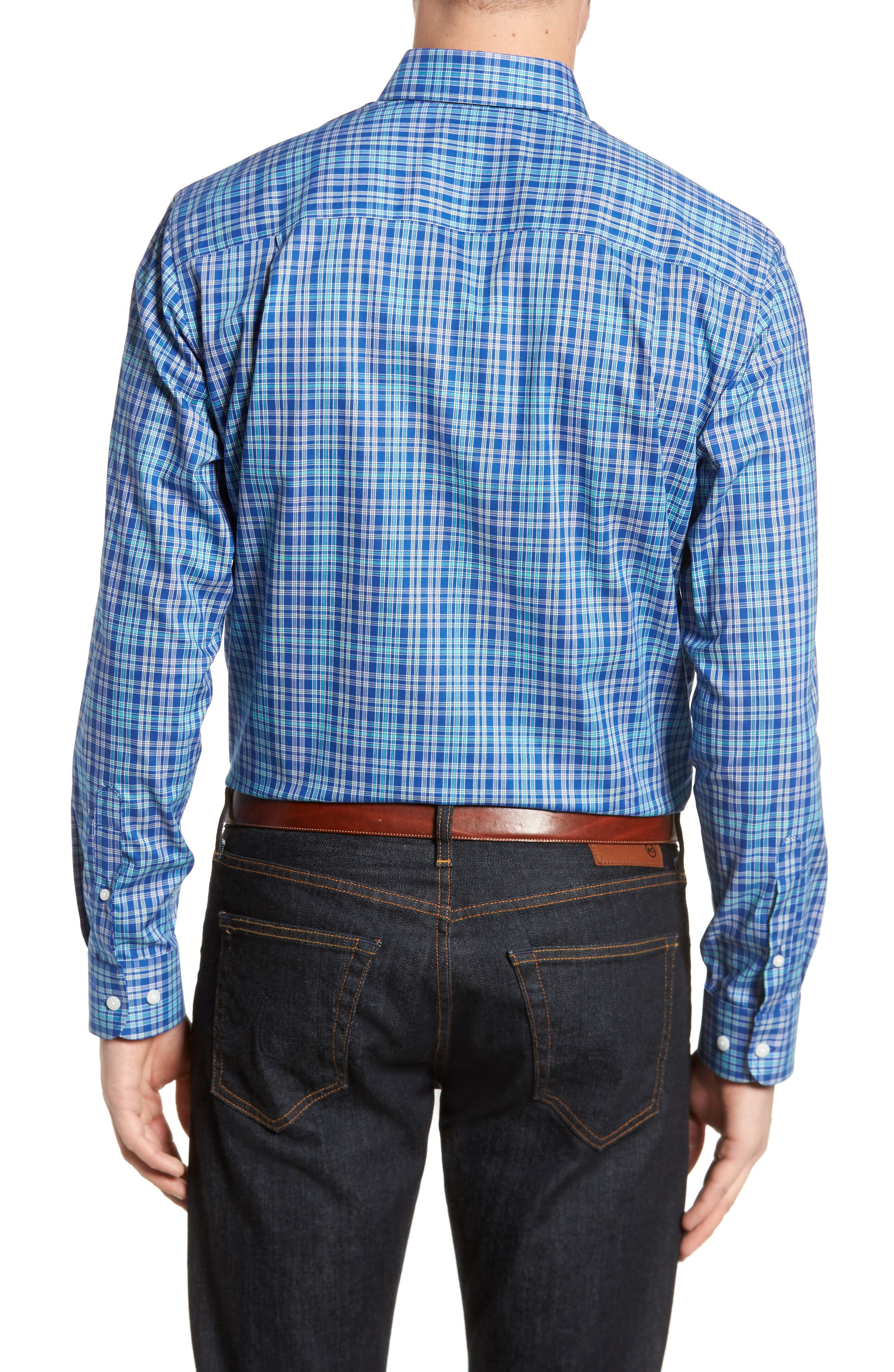 Charlie Easy Care Plaid Sport Shirt,                             Alternate thumbnail 2, color,                             419