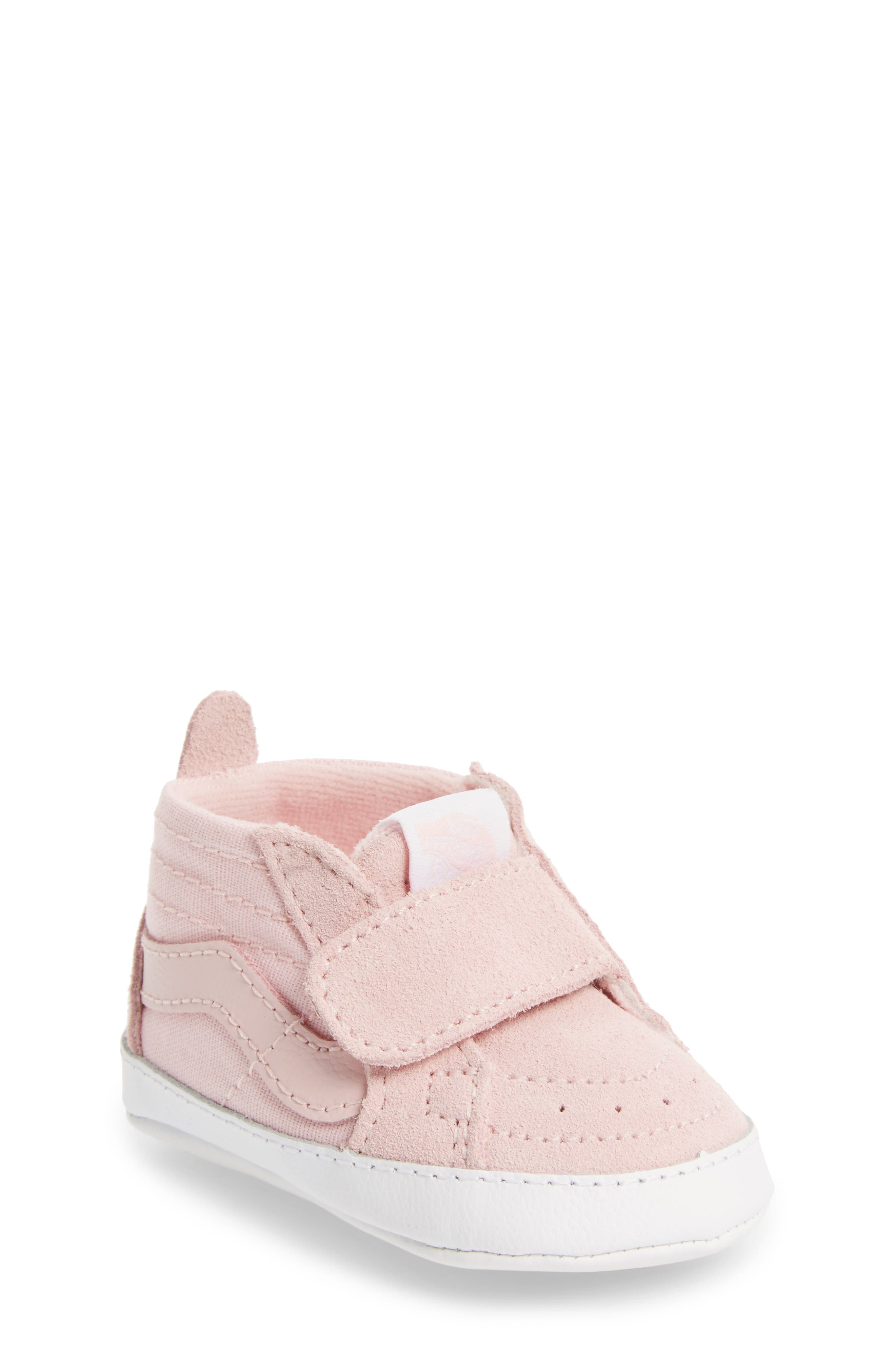 Infant Girls Vans Sk8Hi Crib Sneaker Size 2 M  Pink