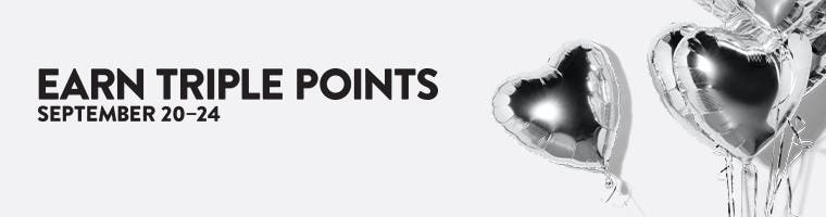 Nordstrom Rewards. Members and cardholders—get Notes faster!: earn triple points September 20-24.