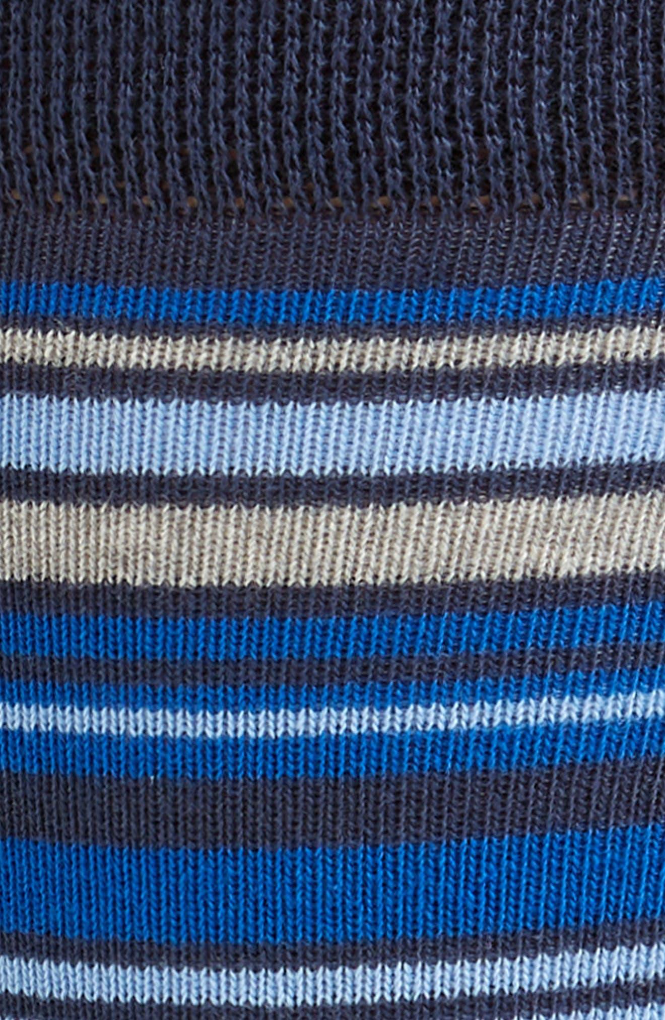 Nete Stripe Socks,                             Alternate thumbnail 2, color,                             BRIGHT BLUE