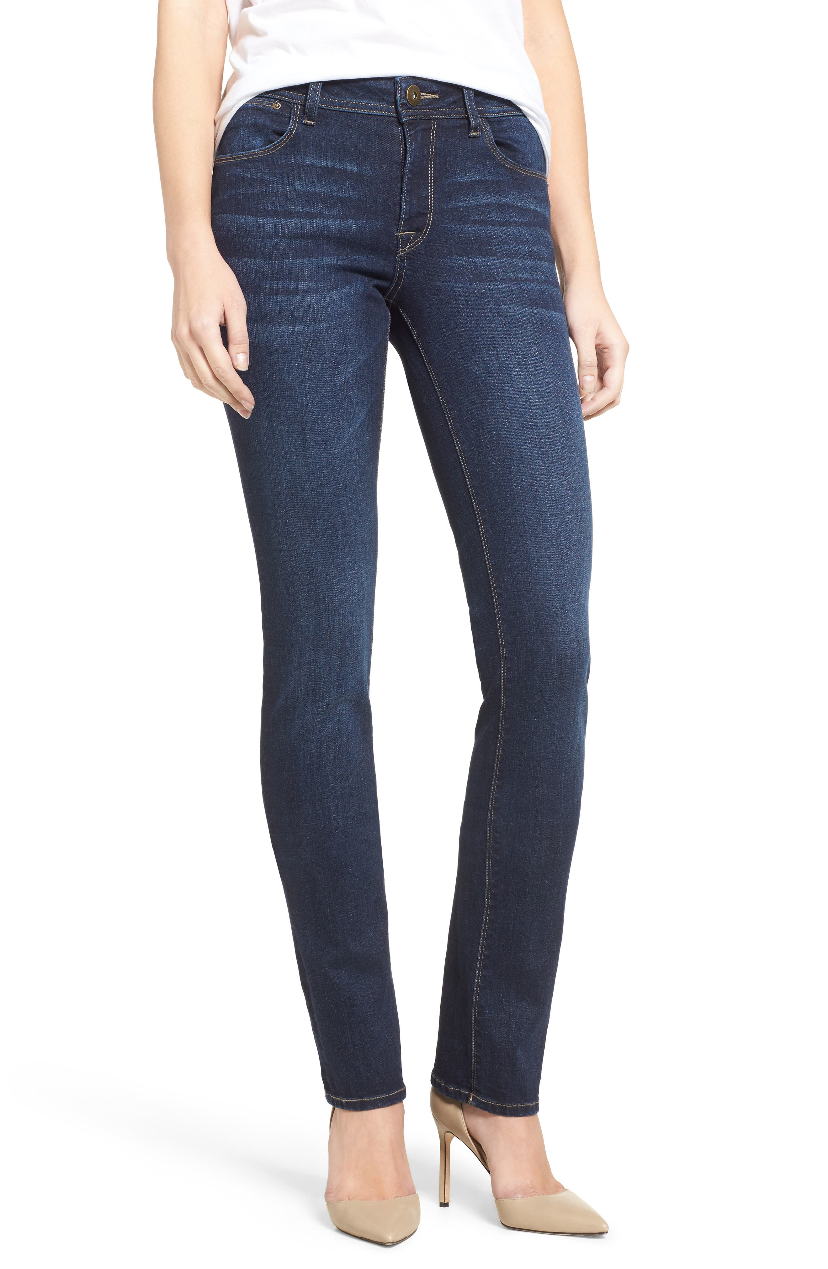 'Coco' Curvy Slim Straight Leg Jeans,                             Alternate thumbnail 2, color,