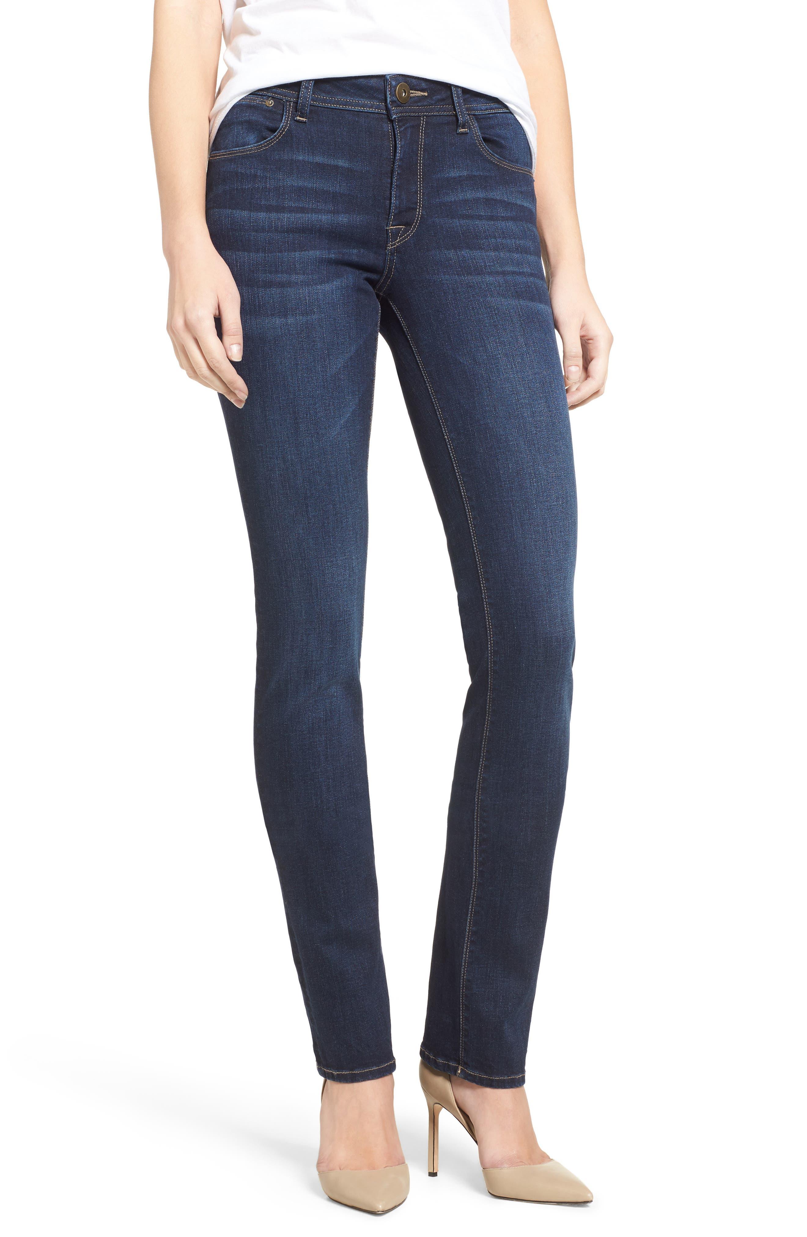 'Coco' Curvy Slim Straight Leg Jeans,                         Main,                         color, 405