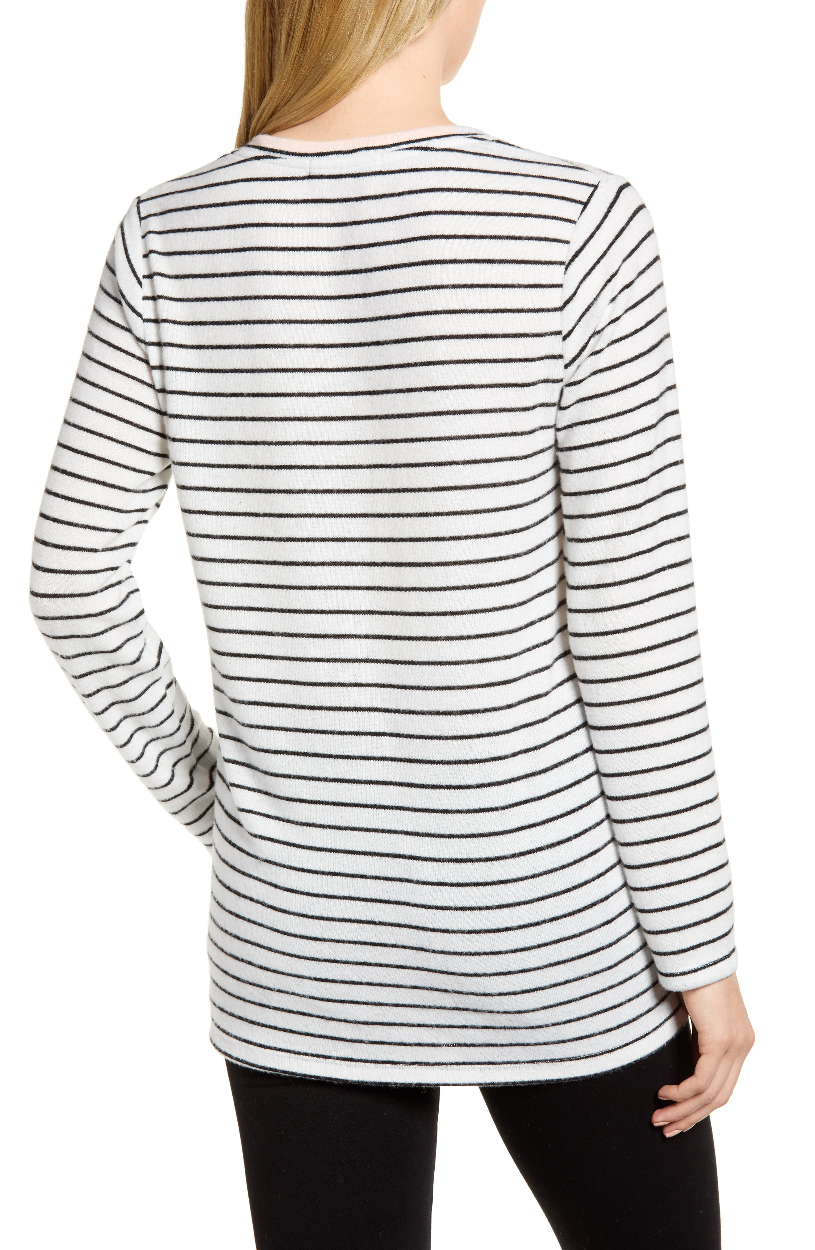 x Living in Yellow Steph Cozy Stripe Top,                             Alternate thumbnail 3, color,