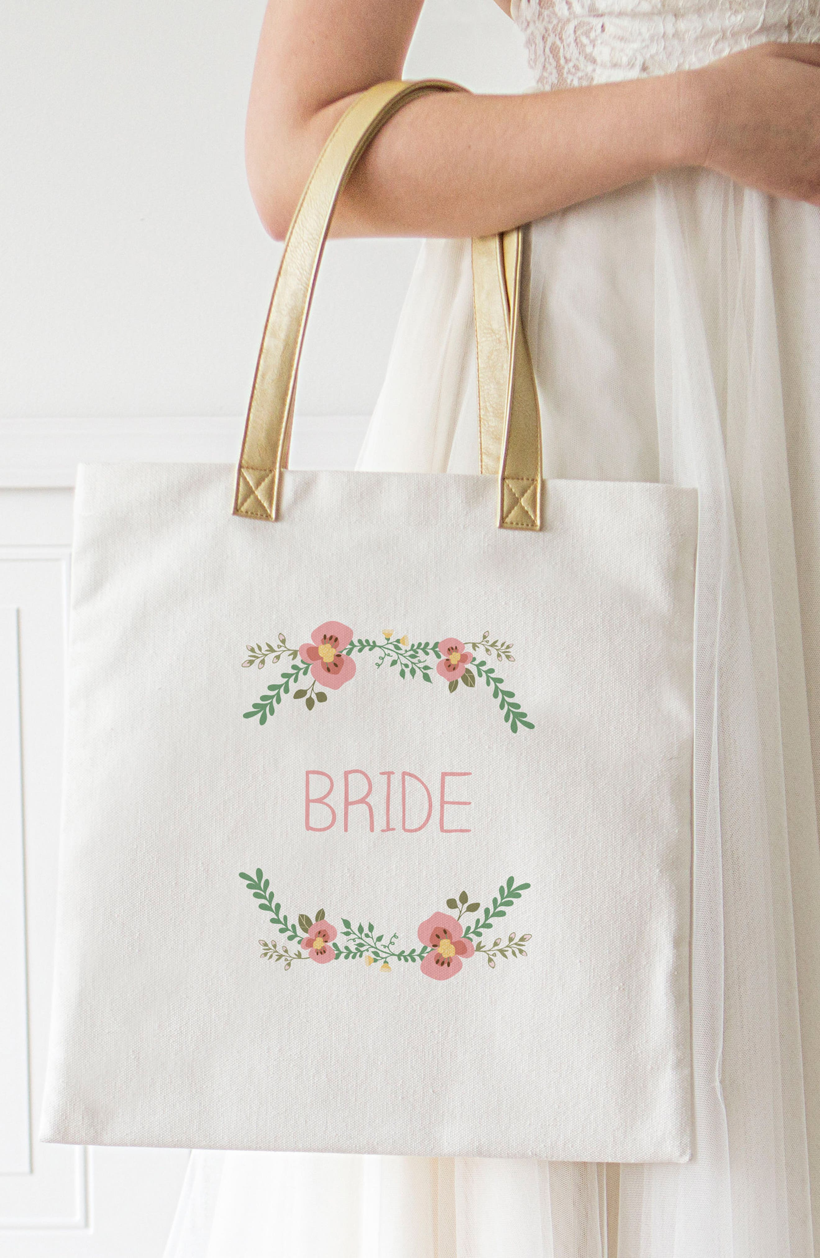 Bridesmaid Canvas Tote,                             Alternate thumbnail 2, color,                             100