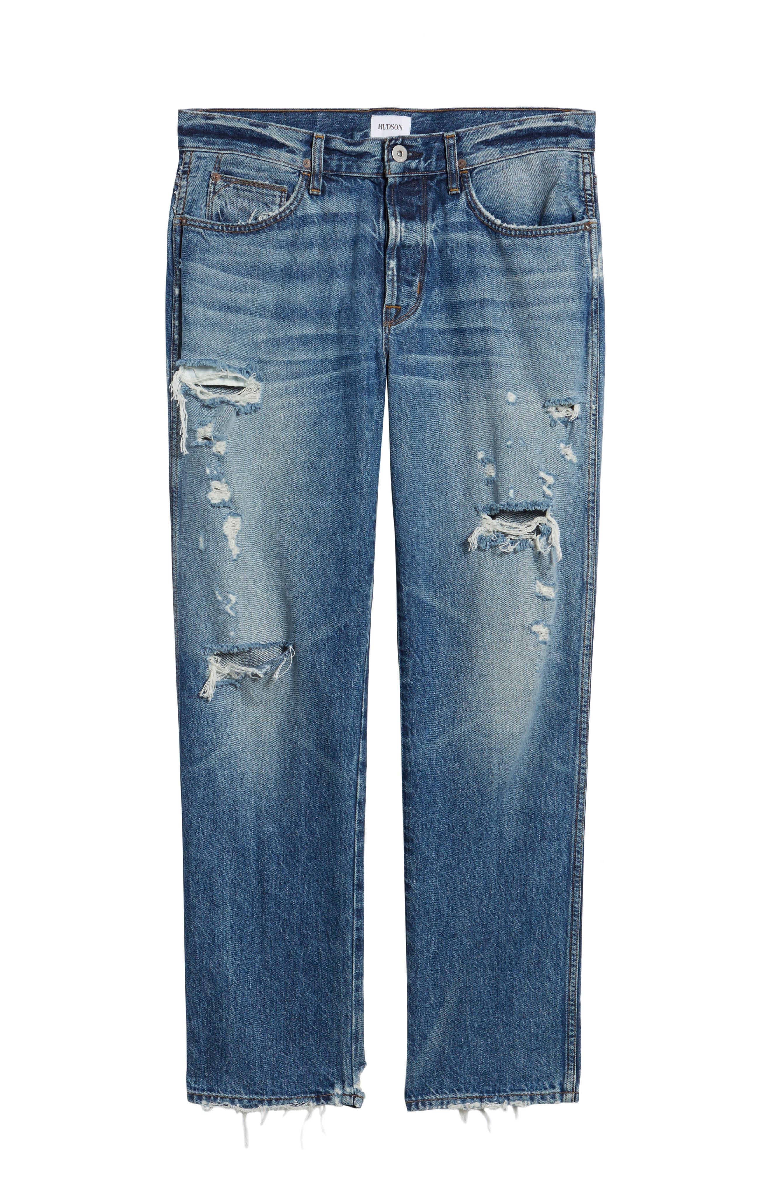 Dixon Straight Fit Jeans,                             Alternate thumbnail 6, color,                             450