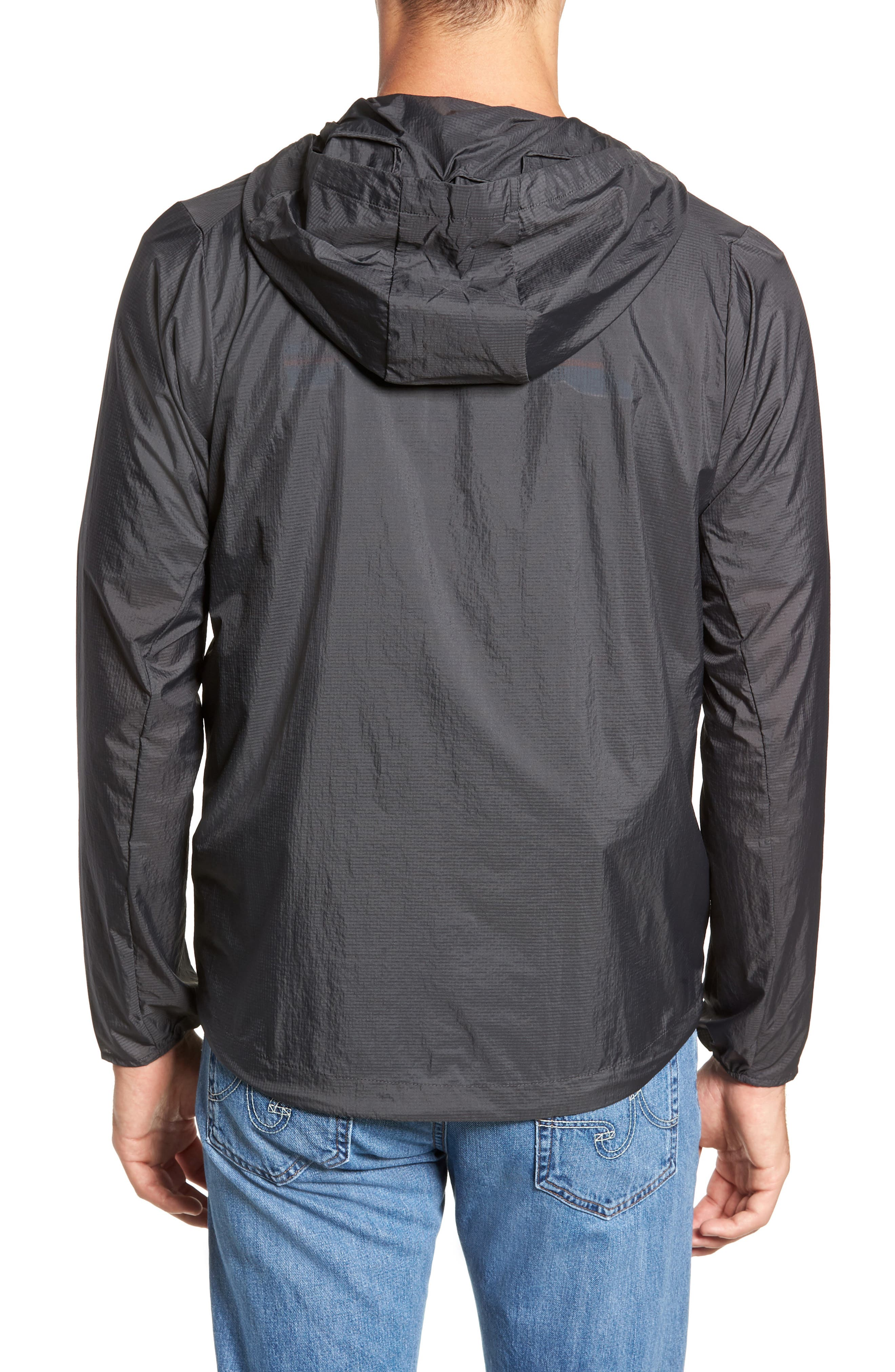 'Houdini' Slim Fit Water Repellent Hooded Jacket,                             Alternate thumbnail 2, color,                             FORGE GREY/ FORGE GREY