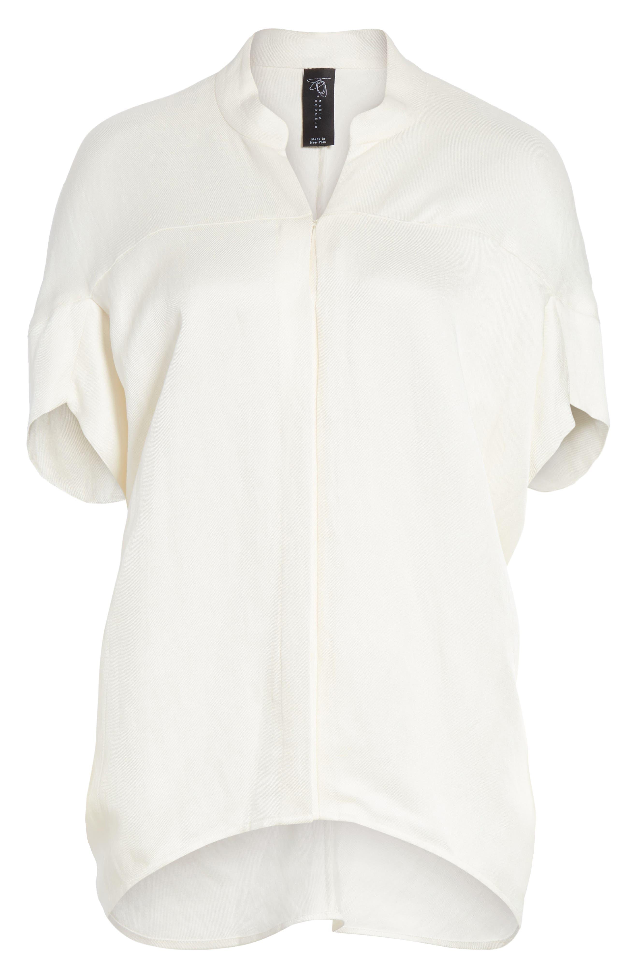 Concave Drape Shirt,                             Alternate thumbnail 6, color,                             100