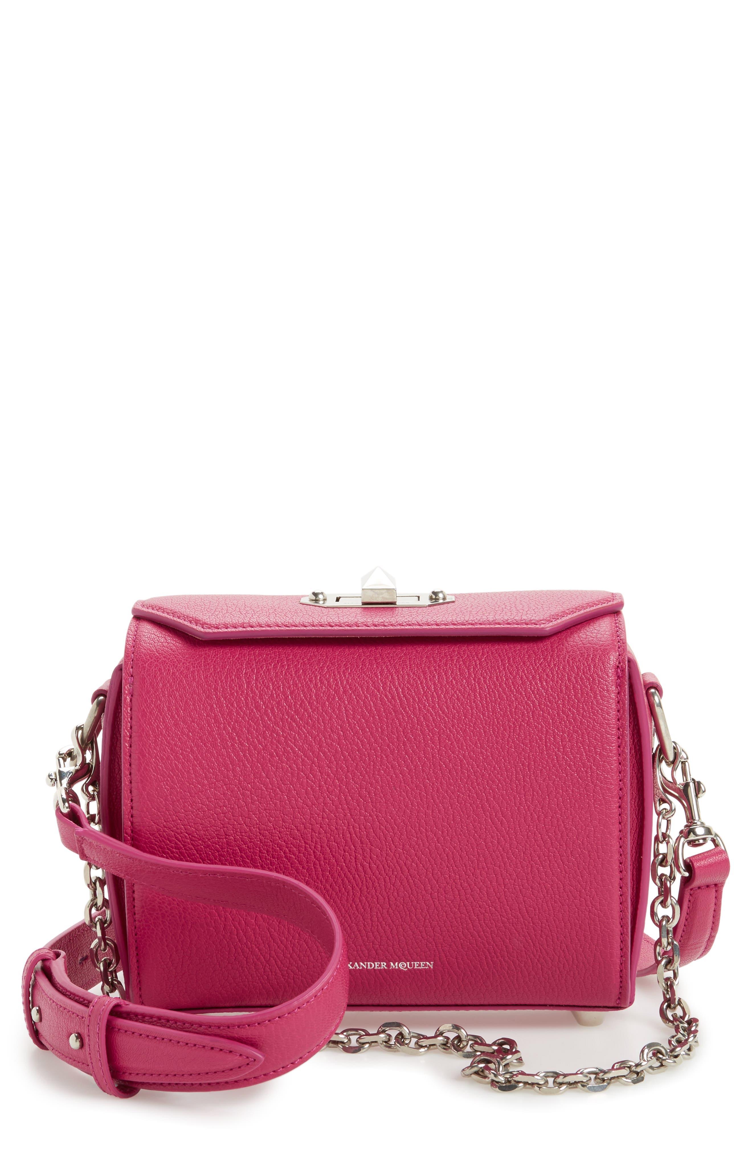 Leather Box Bag,                         Main,                         color, 526