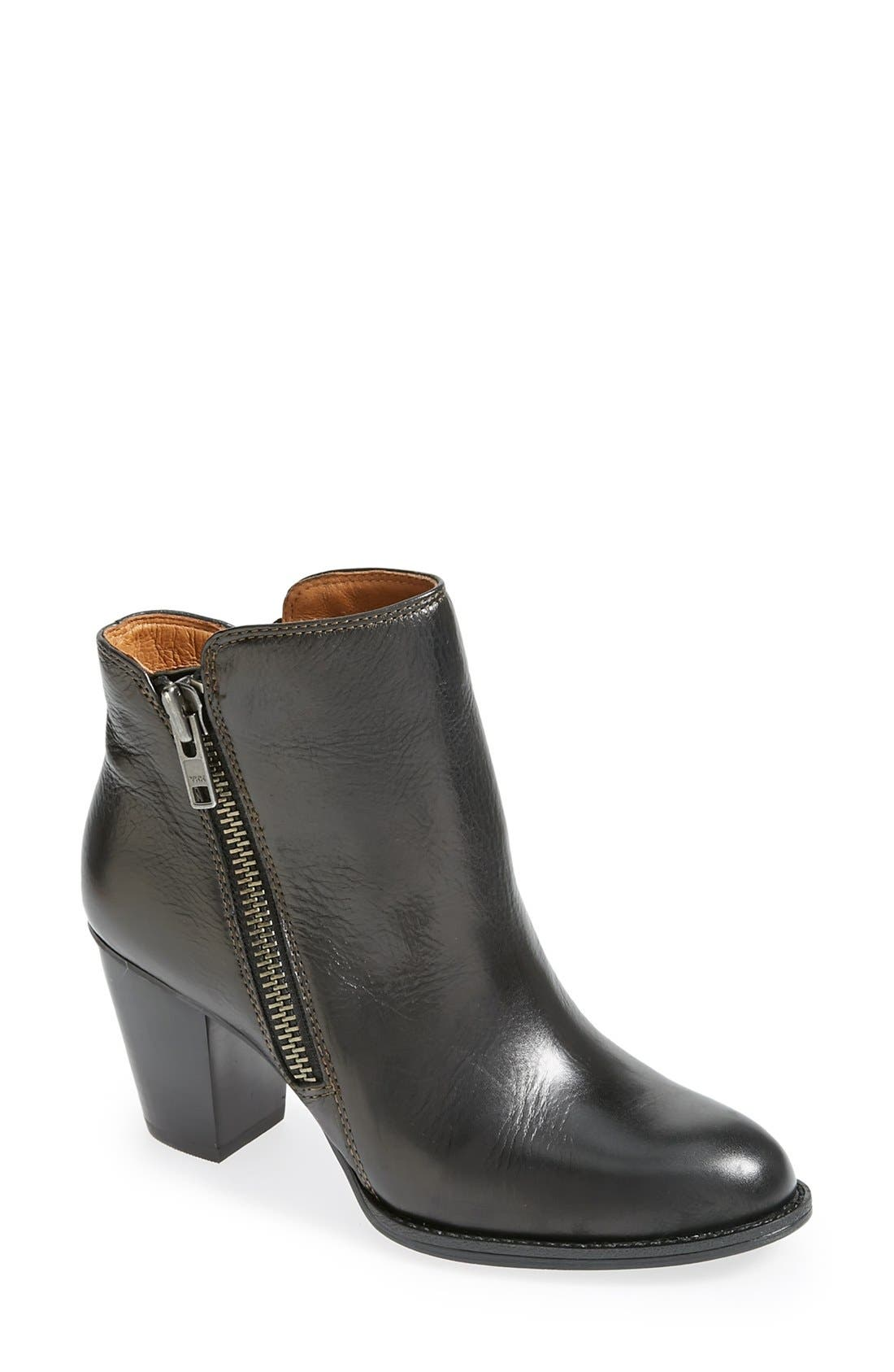 'Wera' Leather Bootie,                             Main thumbnail 1, color,                             001