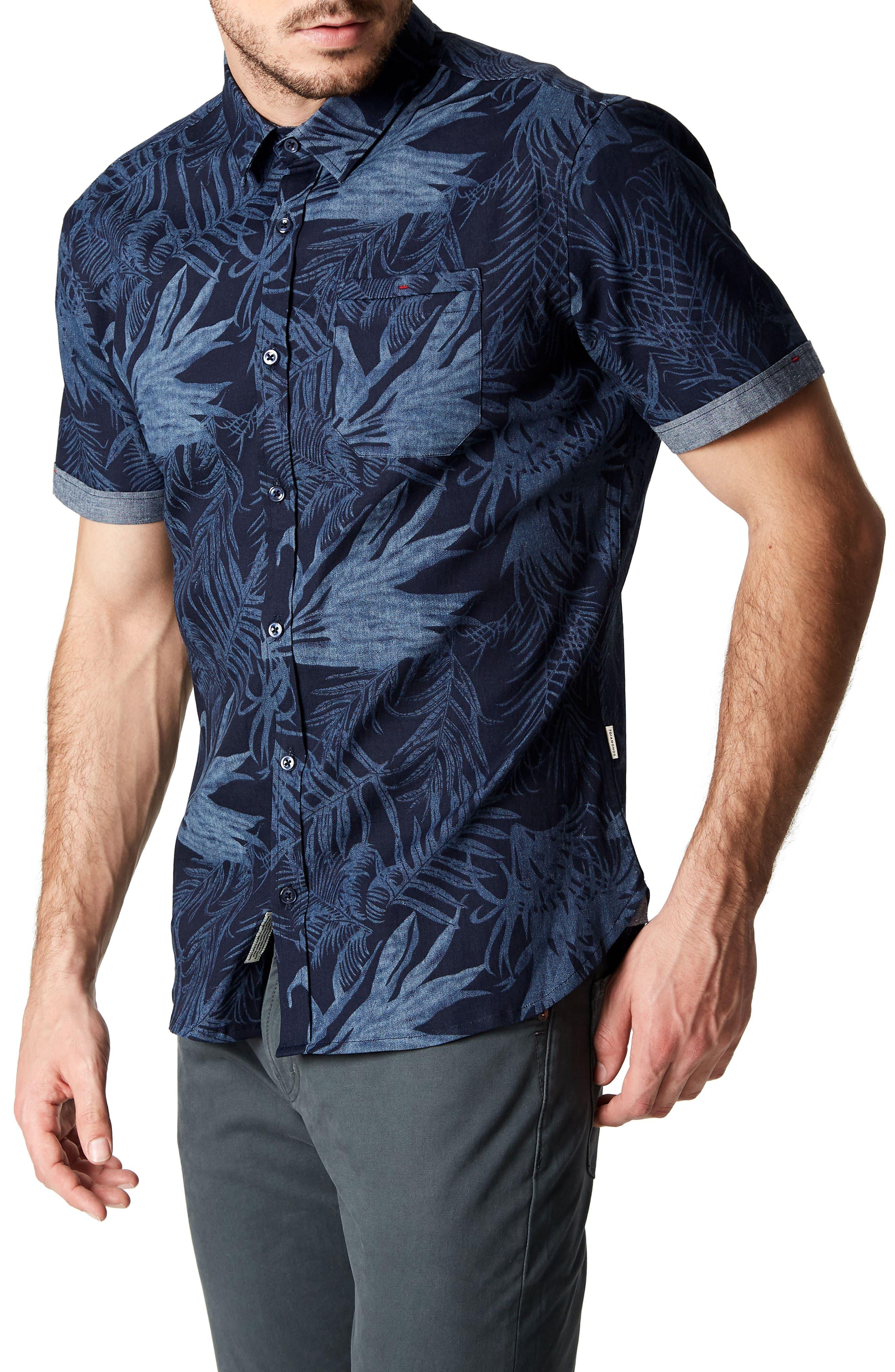 Feeling Good Woven Shirt,                             Alternate thumbnail 3, color,                             NAVY