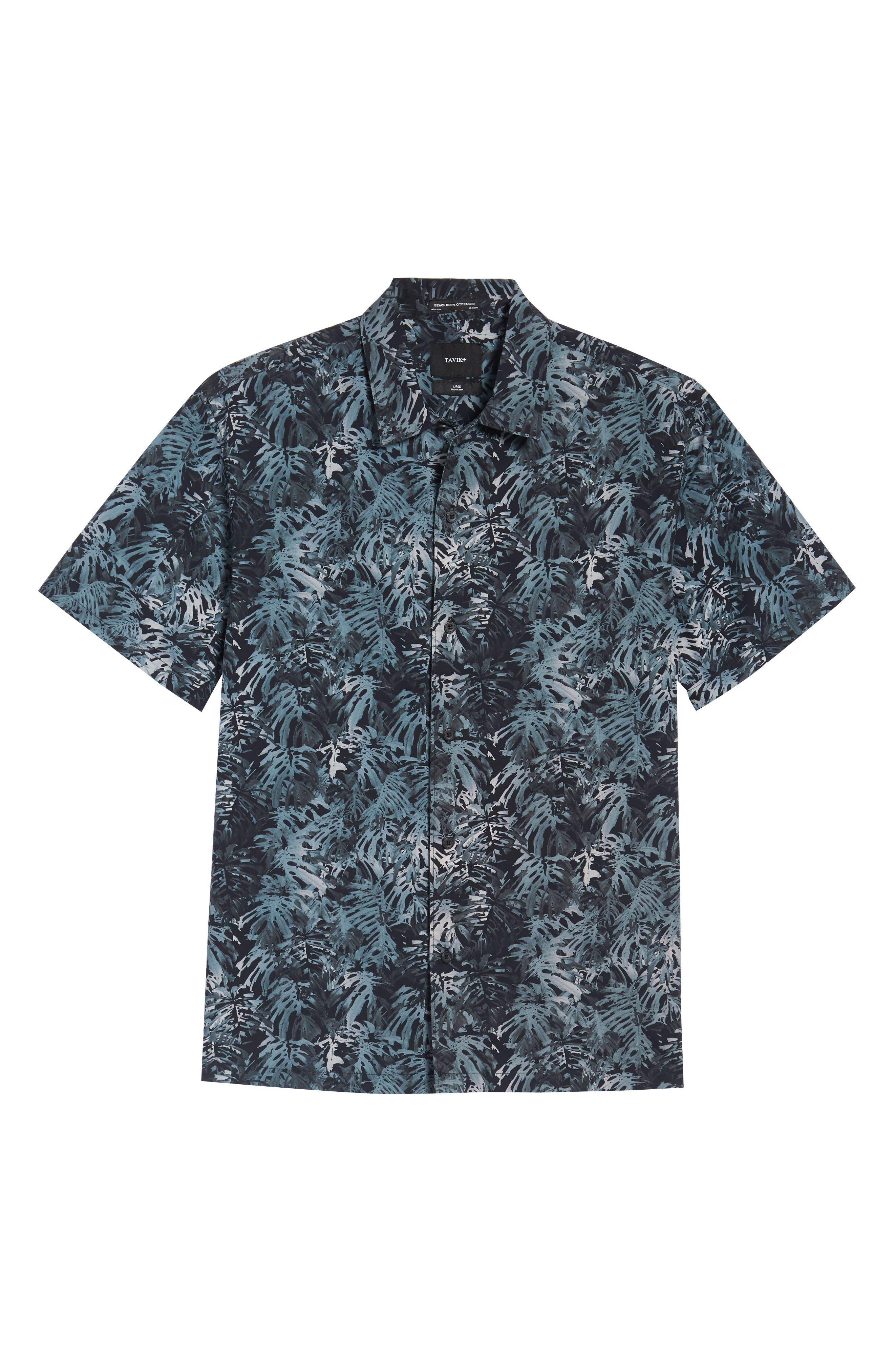 Villa Palms Short Sleeve Woven Shirt,                             Alternate thumbnail 6, color,                             991