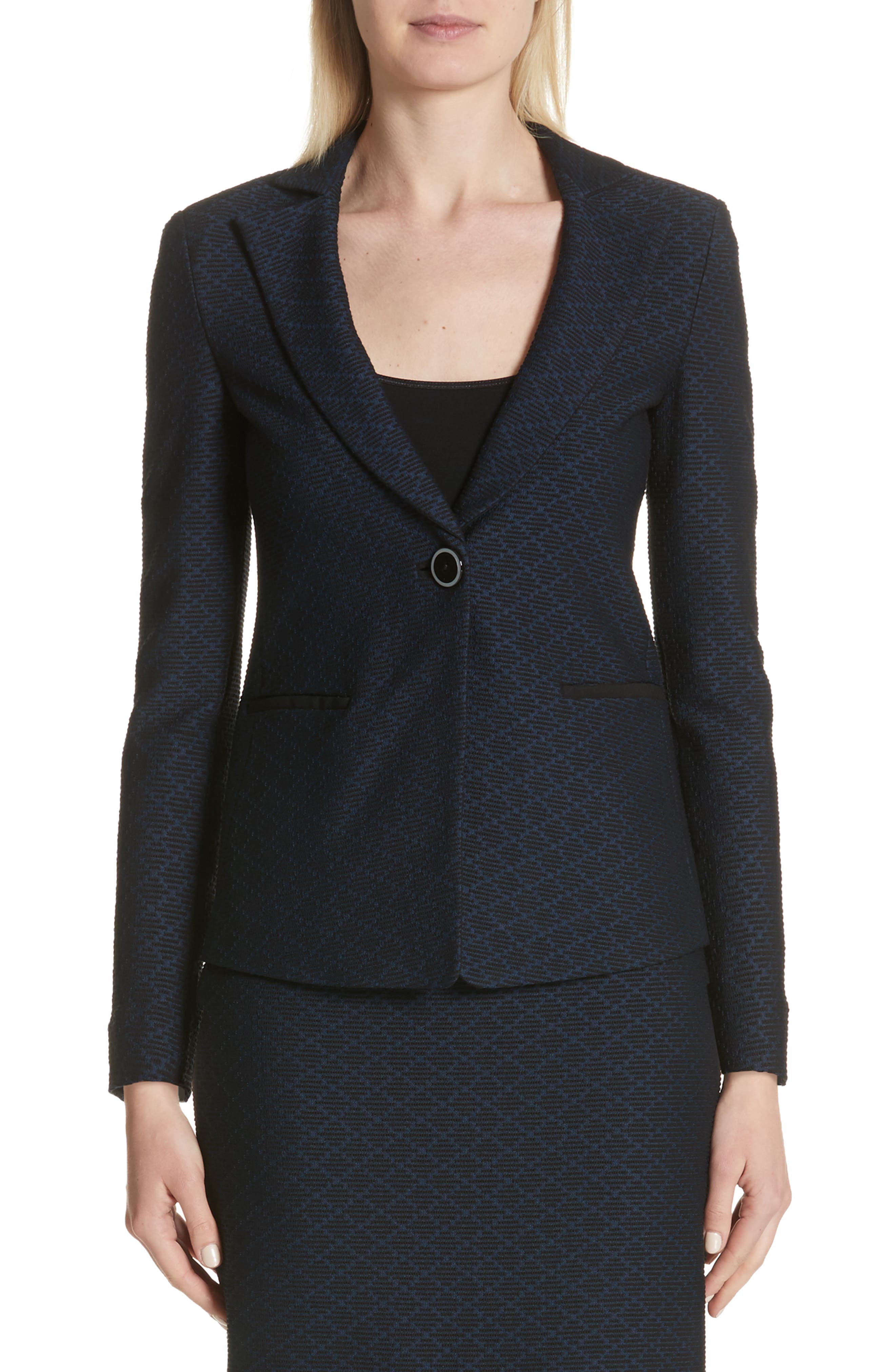 Diamond Jacquard Blazer,                             Main thumbnail 1, color,                             400