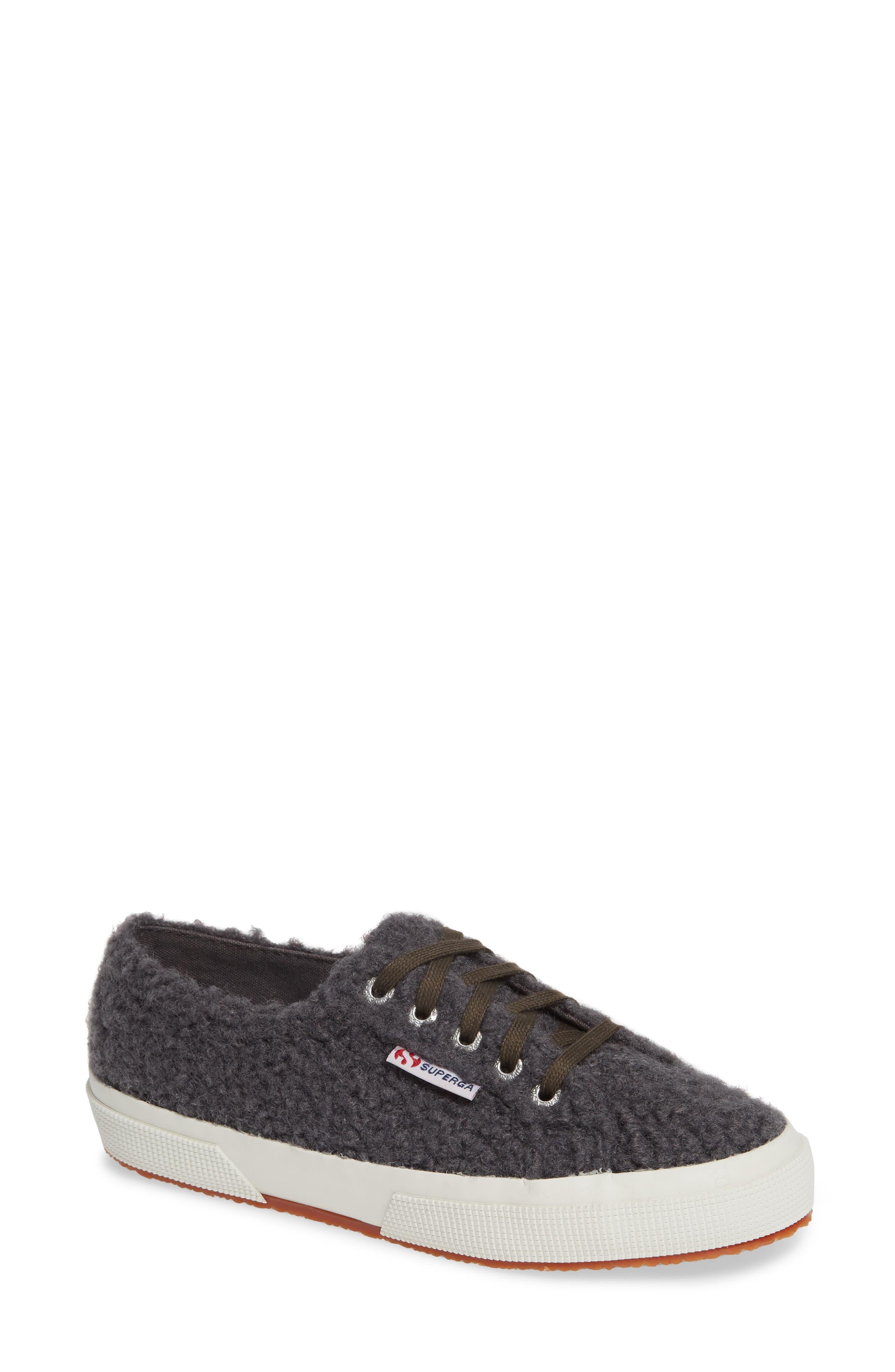 2759 Curly Wool Sneaker,                             Main thumbnail 1, color,                             DARK GREY/ GREY