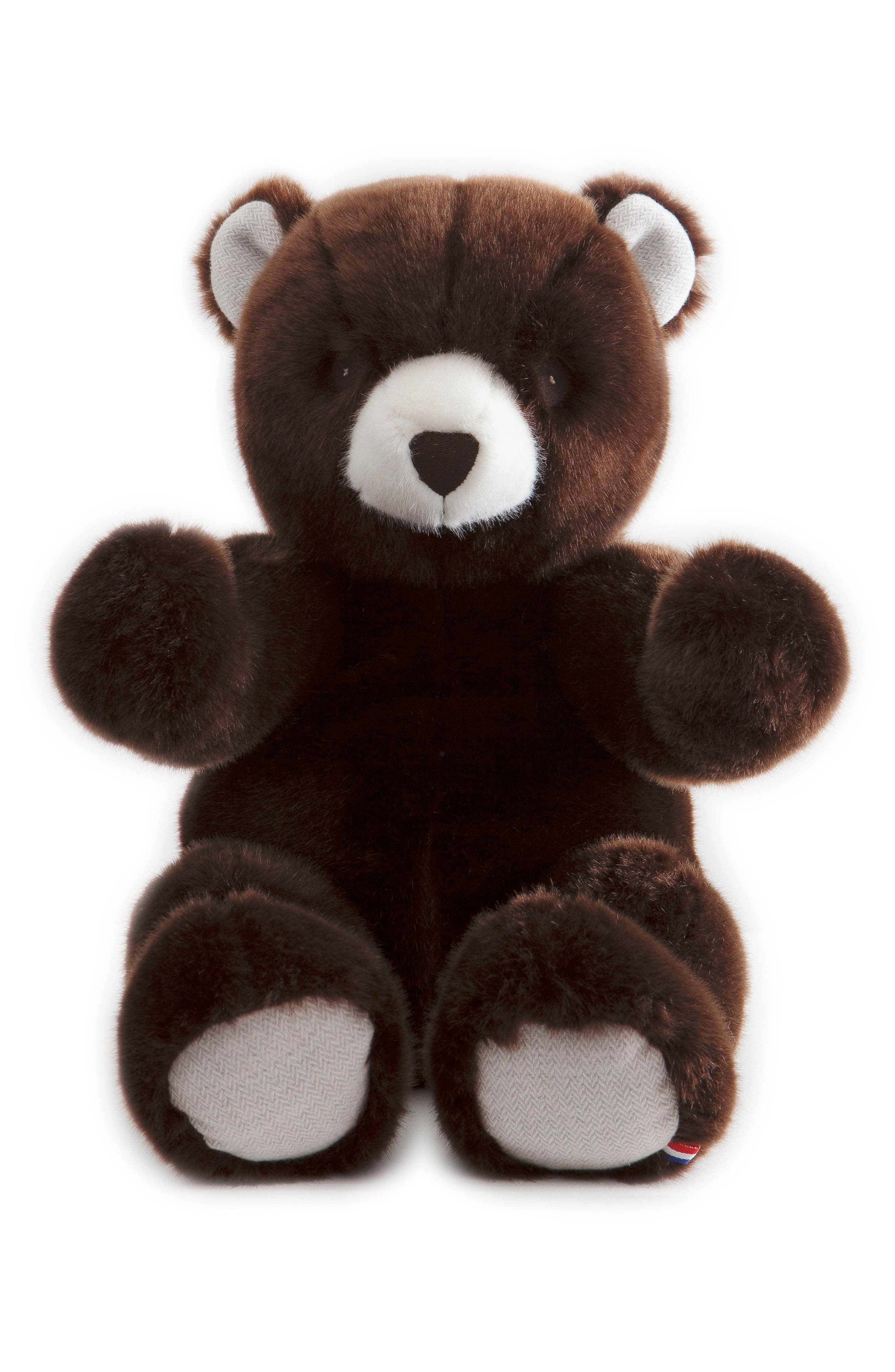 Robert the Bear Stuffed Animal,                             Main thumbnail 1, color,                             BROWN