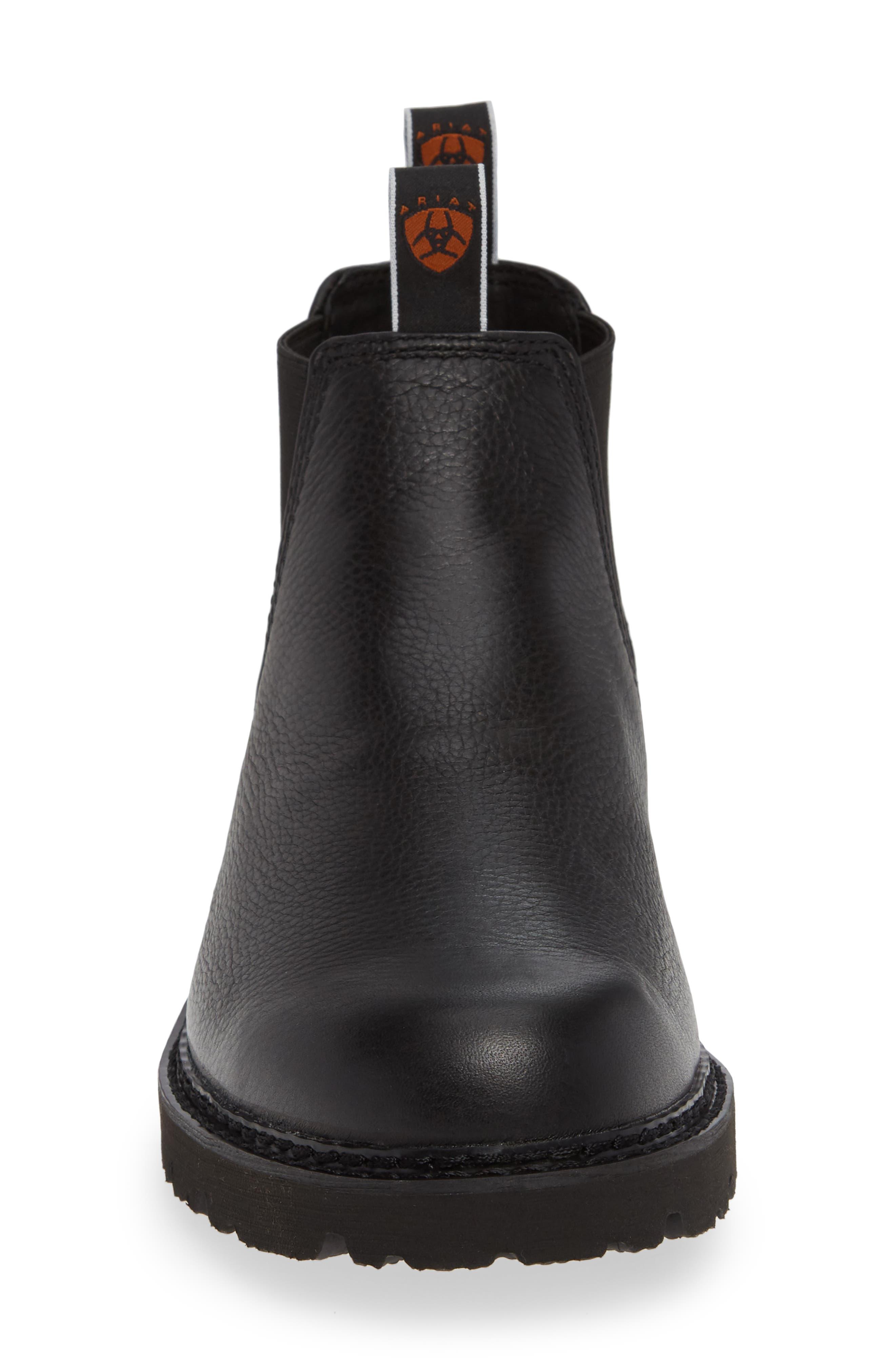 Spothog Chelsea Boot,                             Alternate thumbnail 4, color,                             BLACK DEER TAN LEATHER