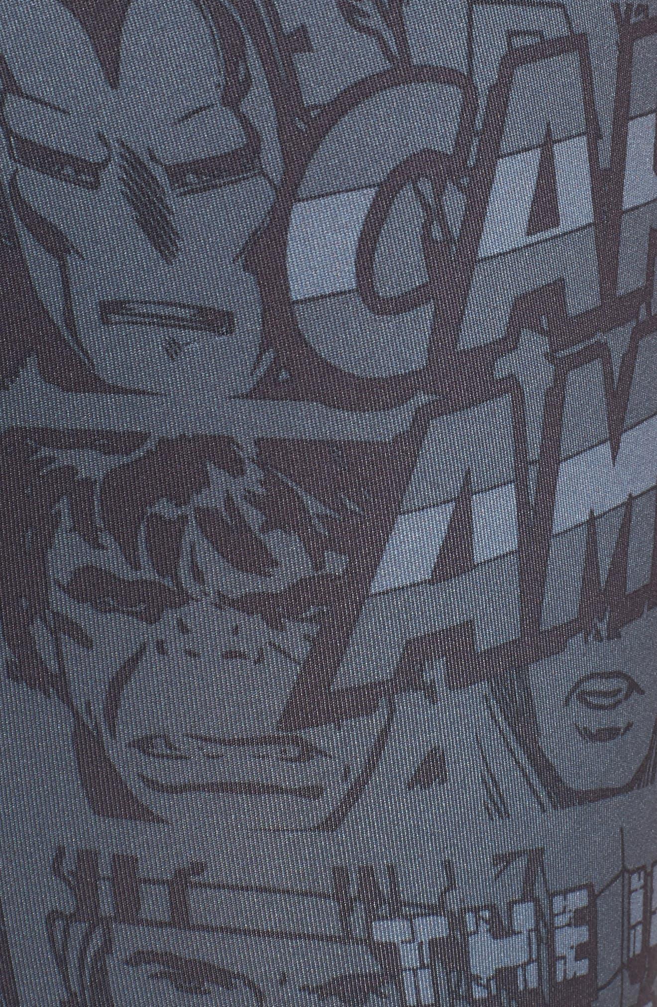 Marvel Boxer Briefs,                             Alternate thumbnail 5, color,                             BLACK