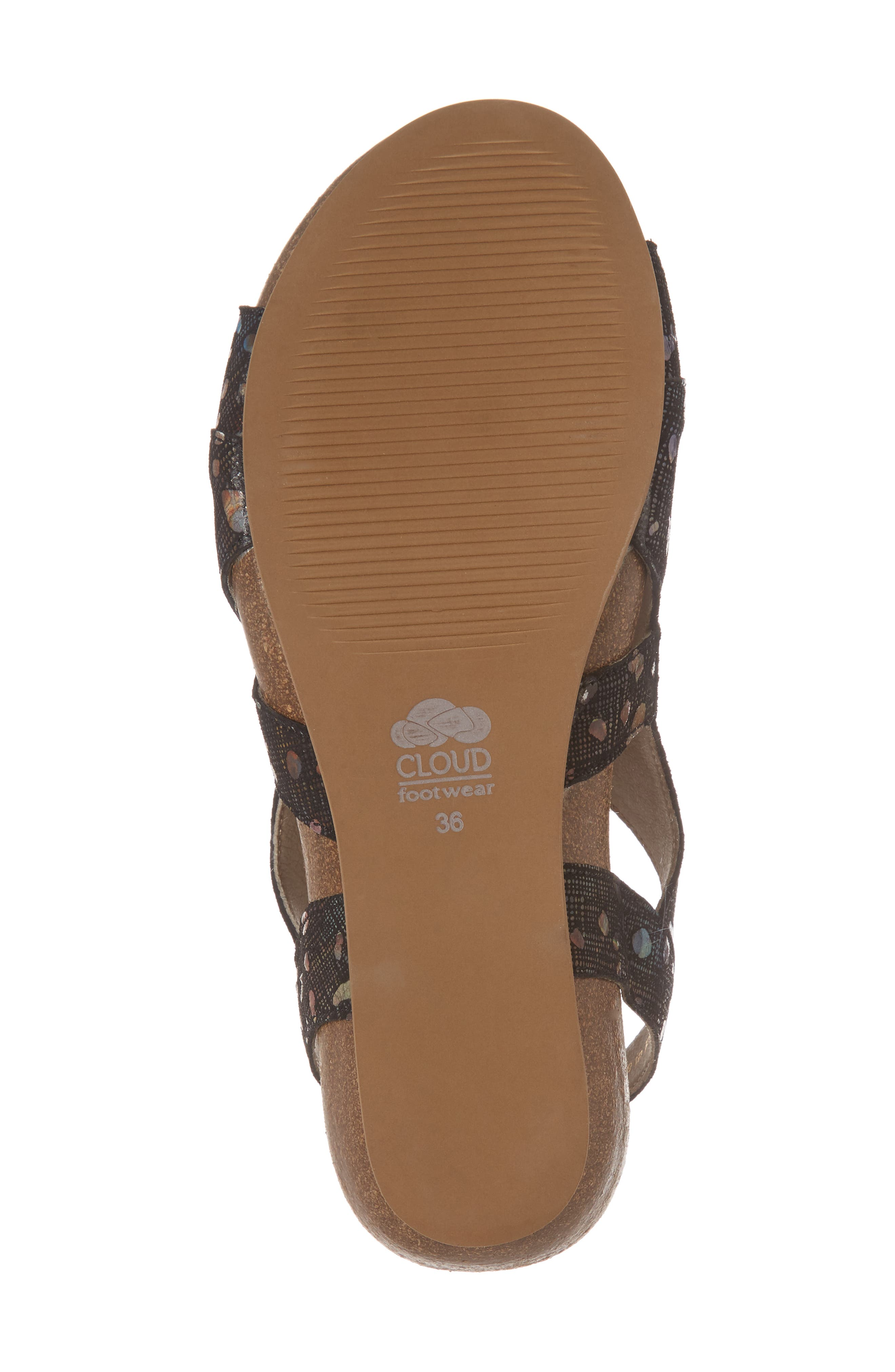 Duffy Wedge Sandal,                             Alternate thumbnail 6, color,                             BUBBLE LEATHER