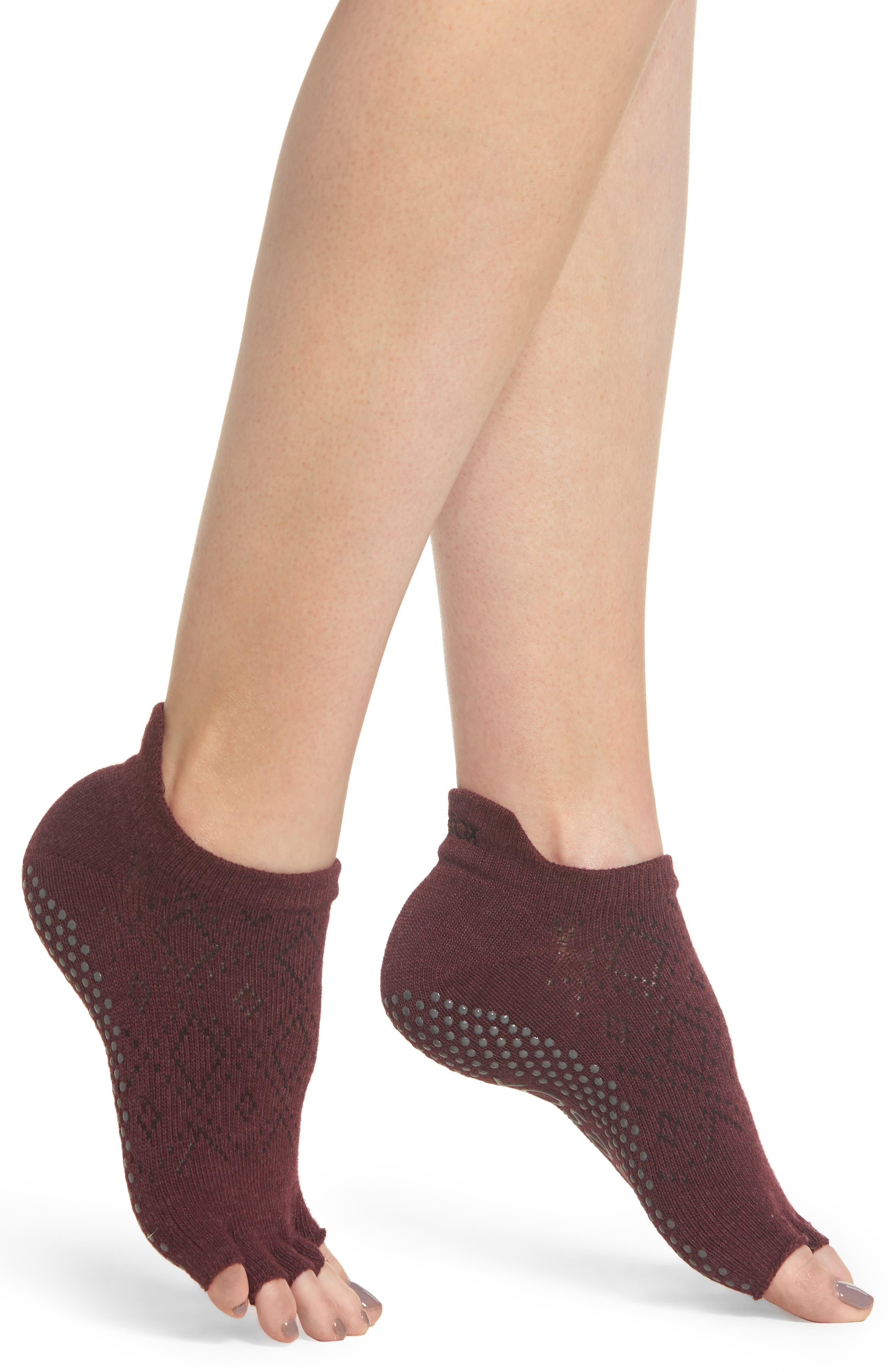 Low Rise Half-Toe Gripper Socks,                         Main,                         color, VIXEN