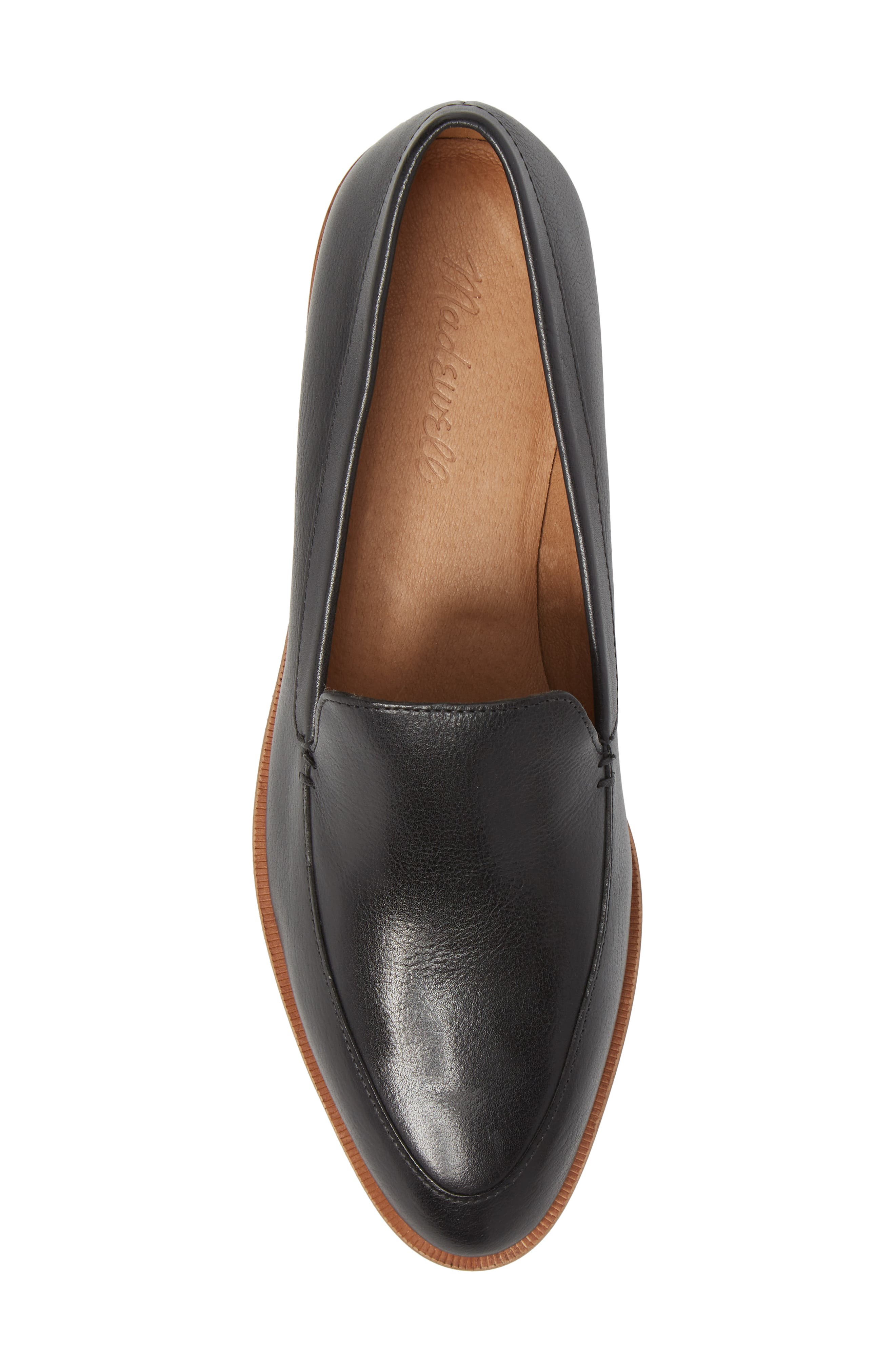MADEWELL,                             The Frances Loafer,                             Alternate thumbnail 5, color,                             TRUE BLACK LEATHER