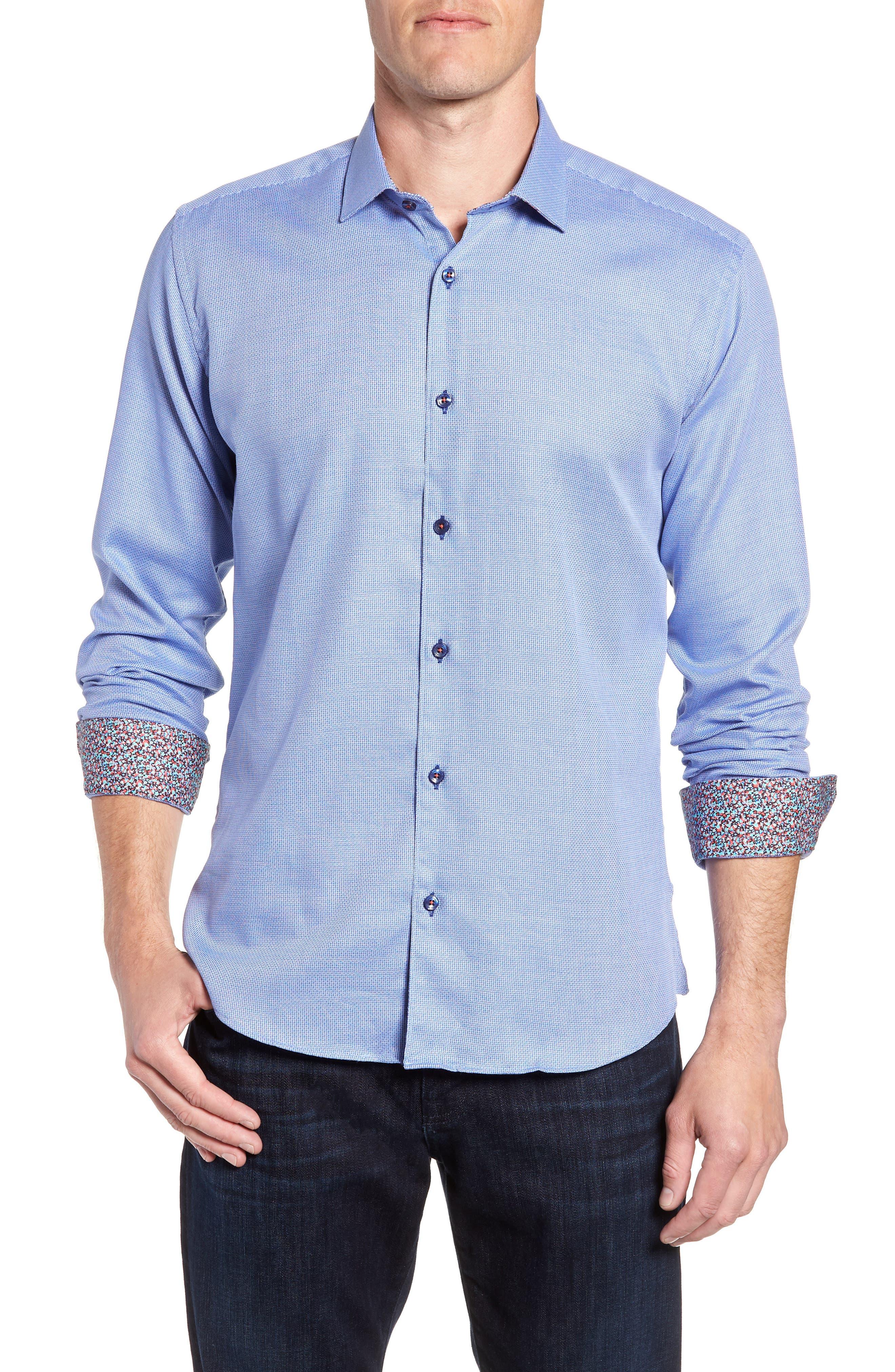 Trim Fit Sport Shirt,                         Main,                         color, 428