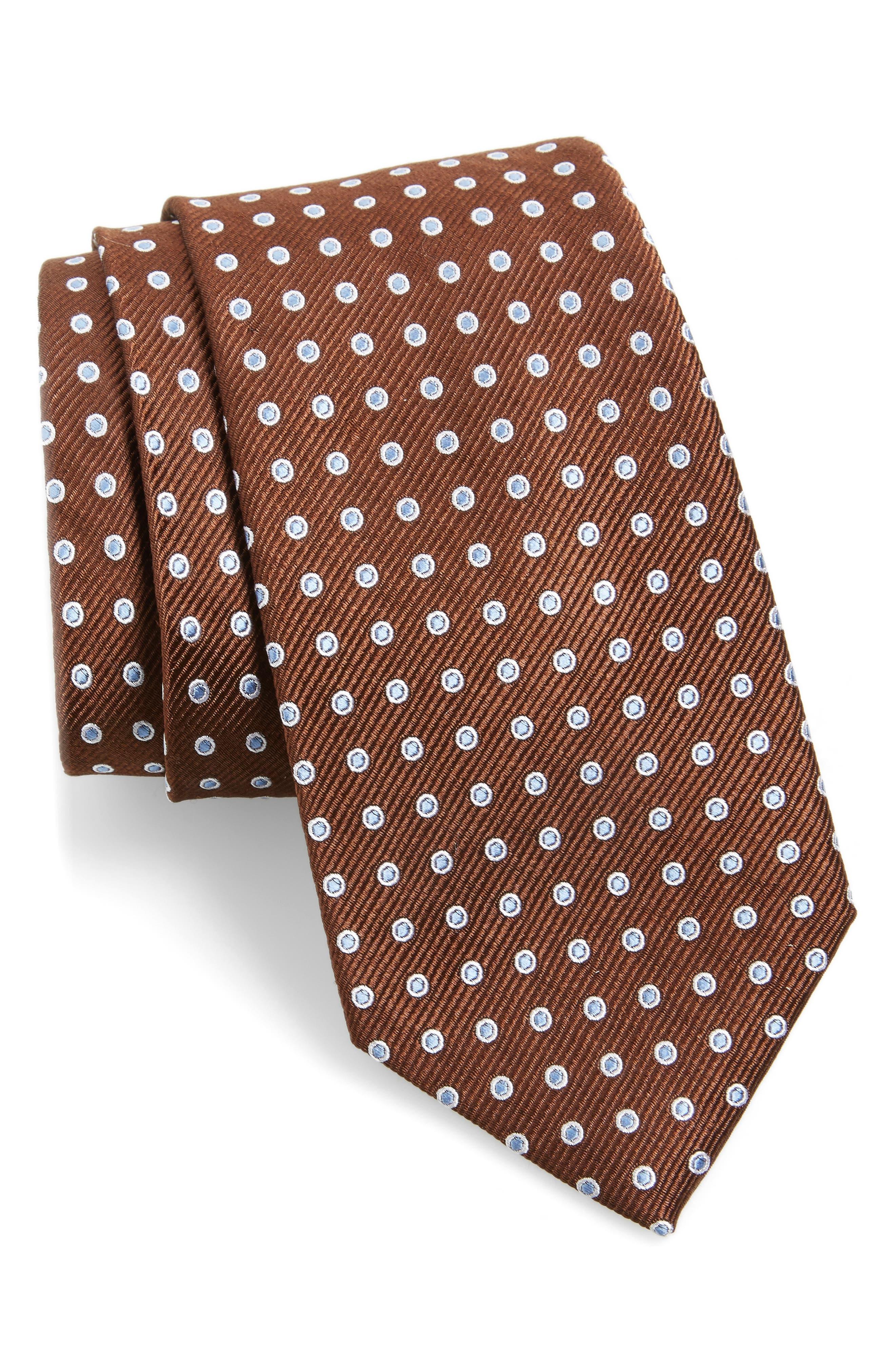 Halo Dot Silk Tie,                         Main,                         color, 200