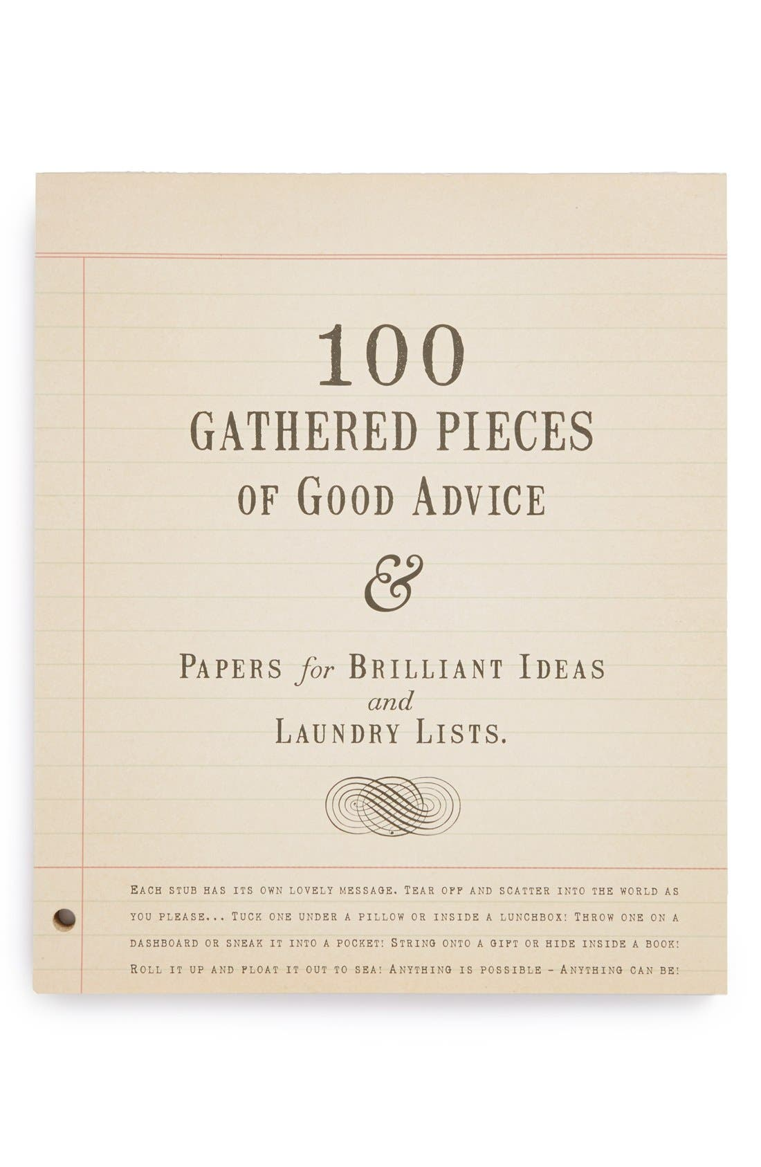 '100 Gathered Pieces of Good Advice' Notepad, Main, color, 100